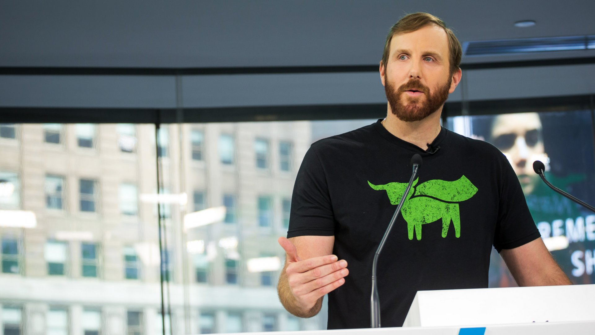 Ethan Brown, founder and chief executive officer of Beyond Meat Inc.