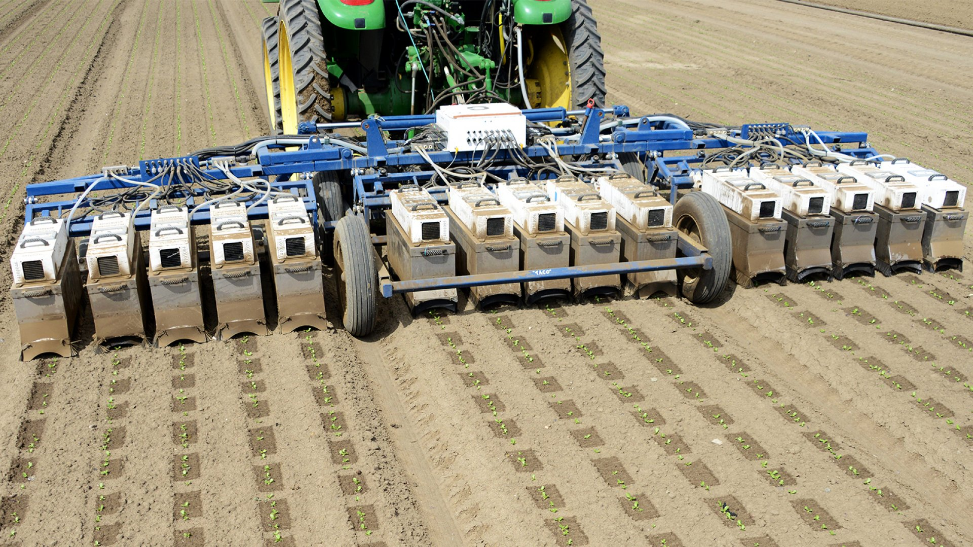 Blue River Technology has created farming machines that can zero in on just the crops that need pesticides, cutting down on overall chemical usage and spend.