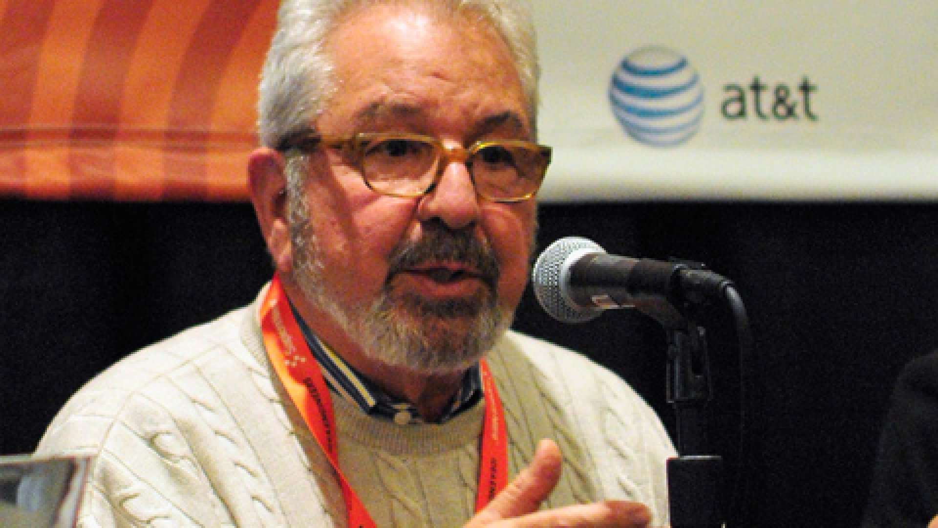 """TV personality Bob Vila speaks onstage at """"This New House: Featuring Bob Vila,"""" during the 2012 SXSW Interactive festival."""