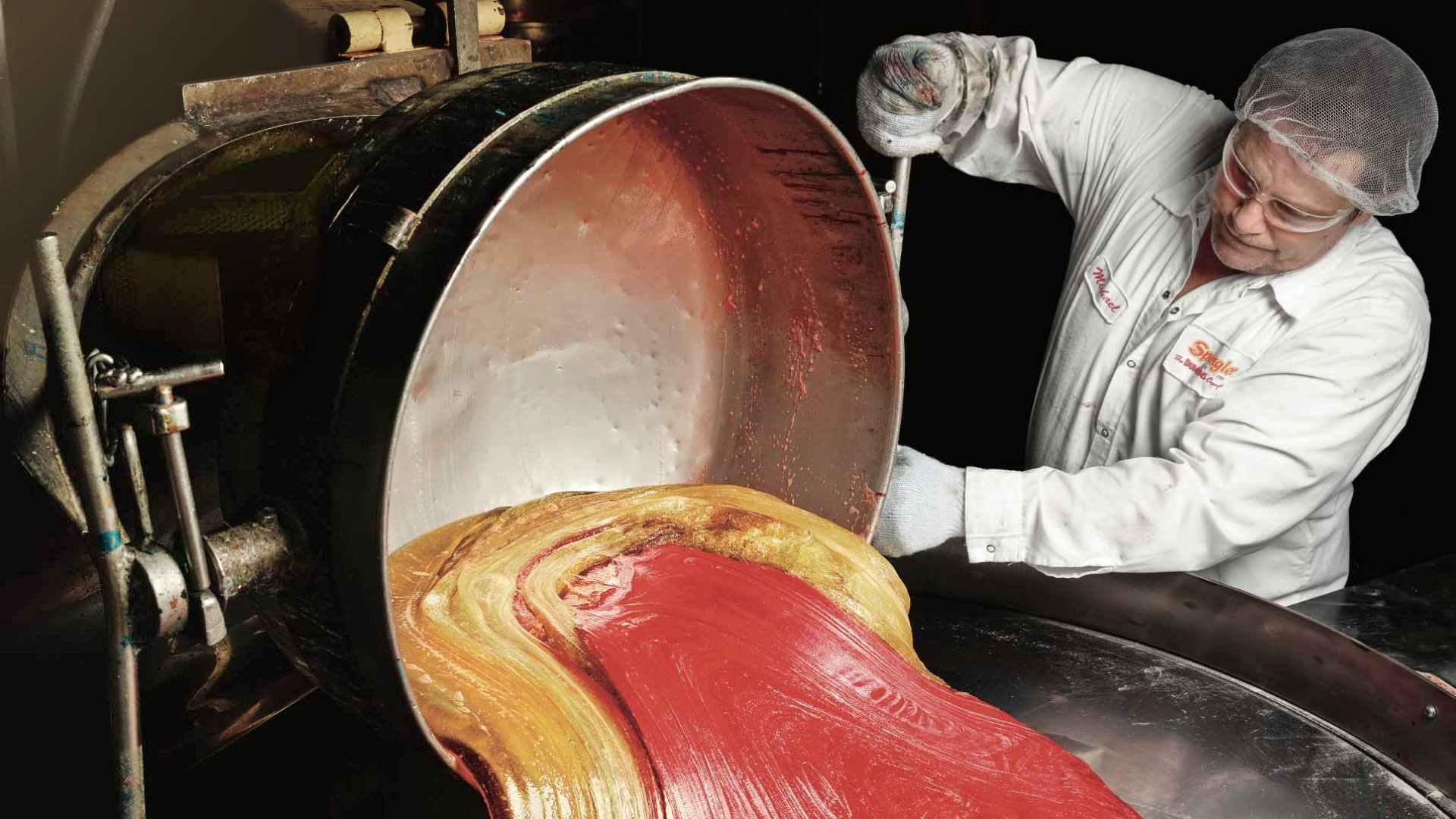 This colorful goo will soon become a batch of Dum- Dums lollipops. Spangler pumps out 12 million each day and three billion every year. The brand remains its bestseller.