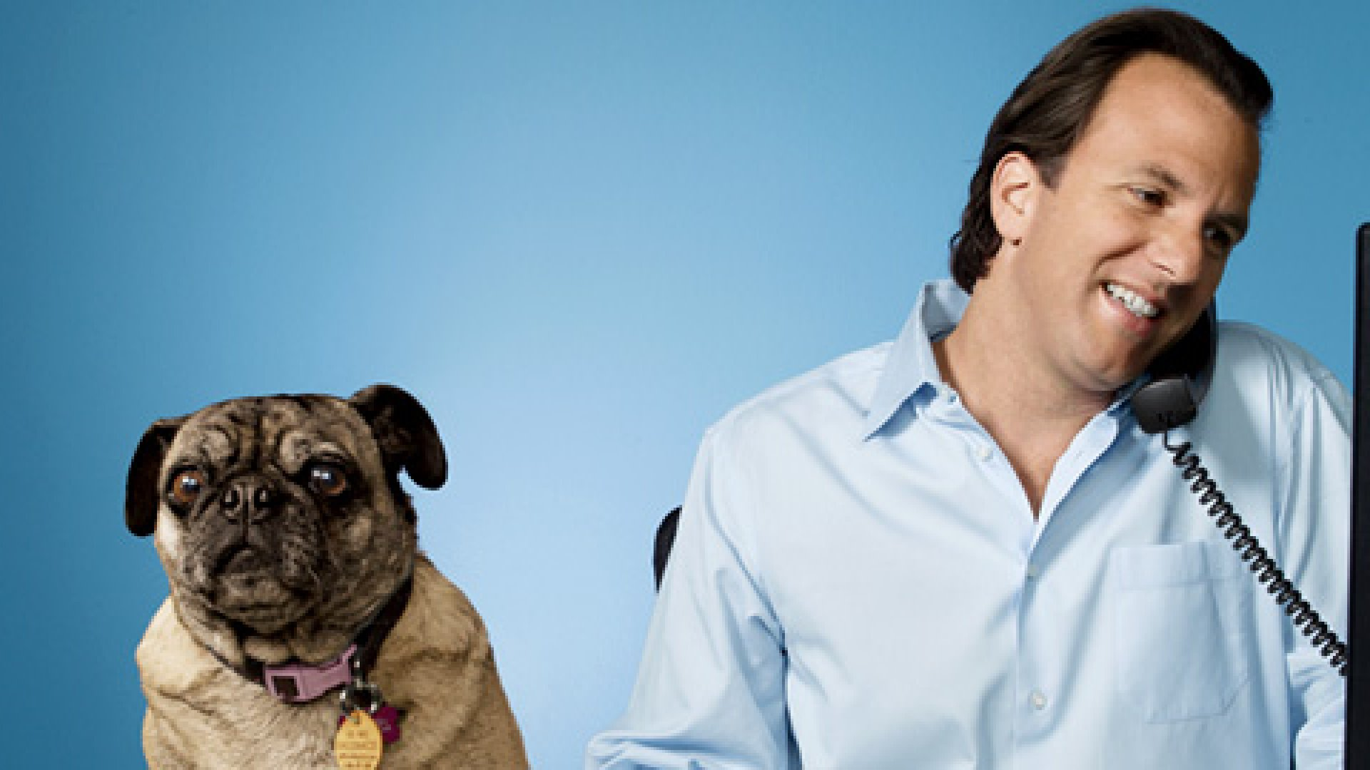 <strong>DOGFIGHT</strong> For years, pet-treat maven Marco Giannini (shown with Dogswell's office pooch, Sophie) itched to take on the big brands.