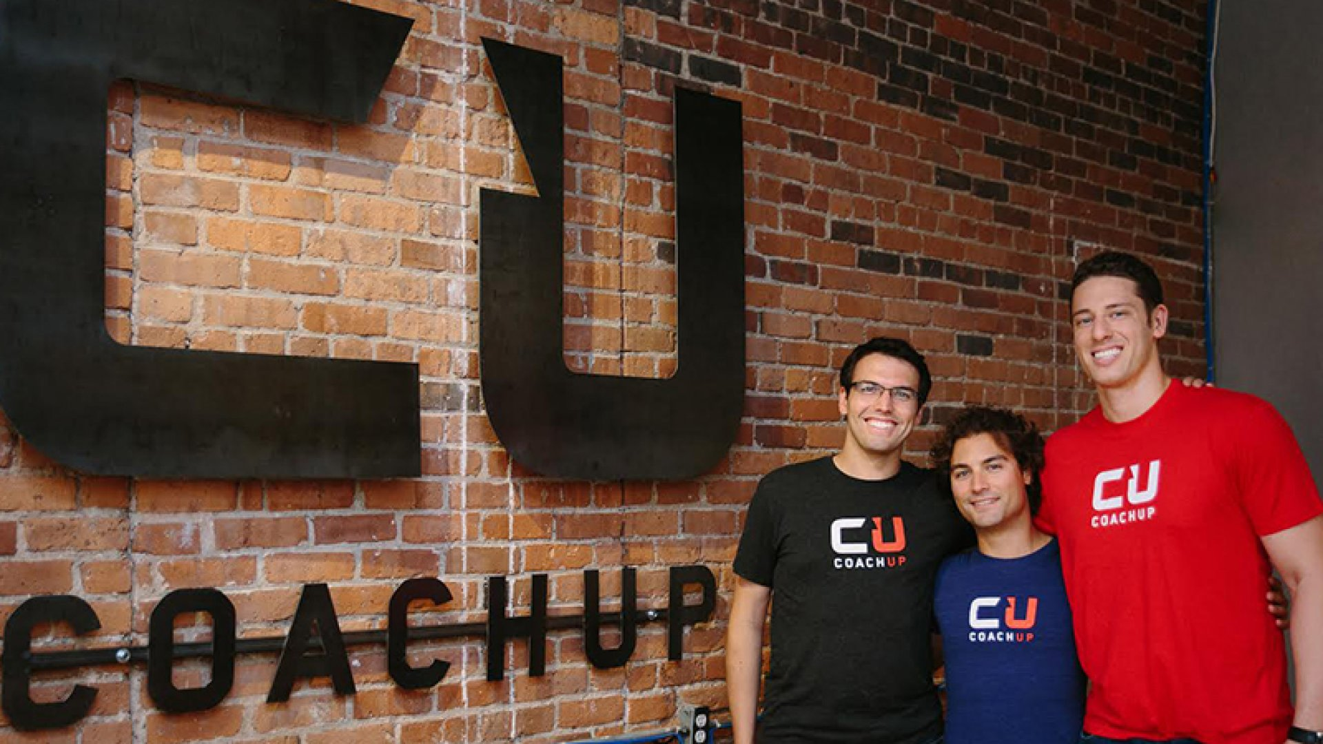 CoachUp founding team members Gabe Durazo and Arian Radmand with founder Jordan Fliegel.