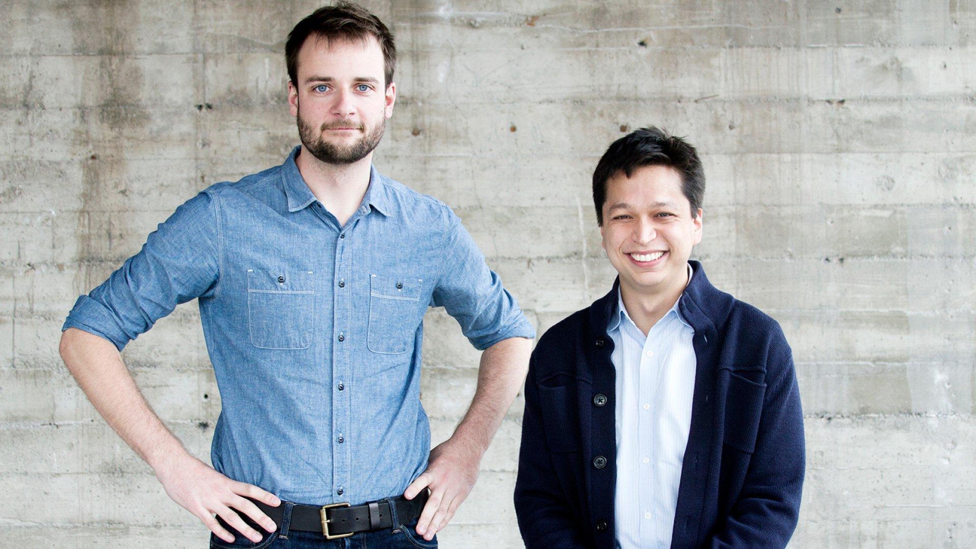Evan Sharp and Ben Silbermann of Pinterest.