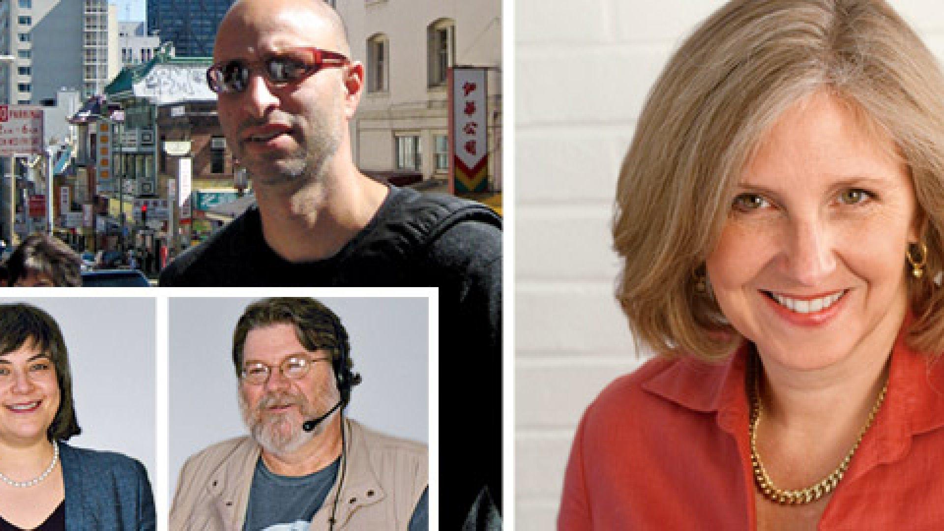 Clockwise from top: Adam Bluestein, Donna Fenn, Bill Pfleging, Minda Zetlin