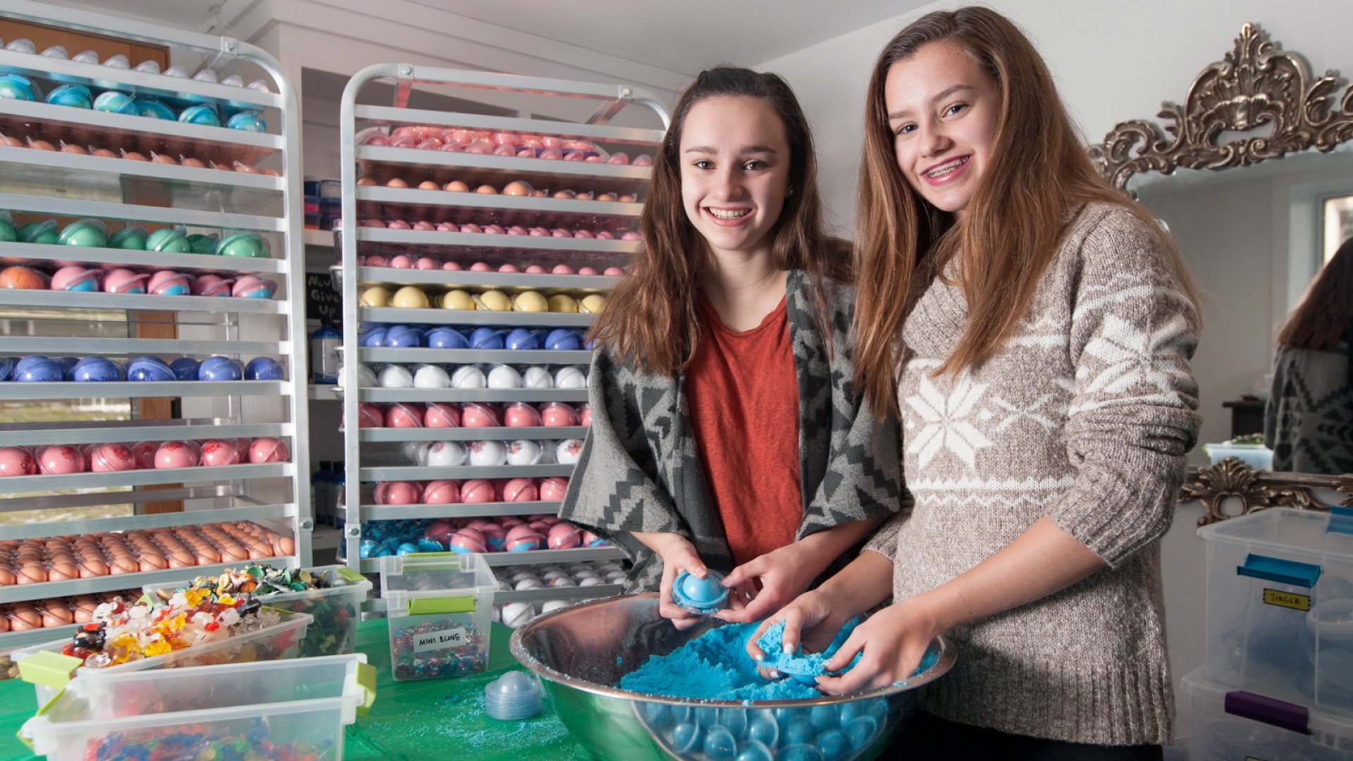 """Two teens build """"Da Bomb"""" of a company with Bath Bombs."""