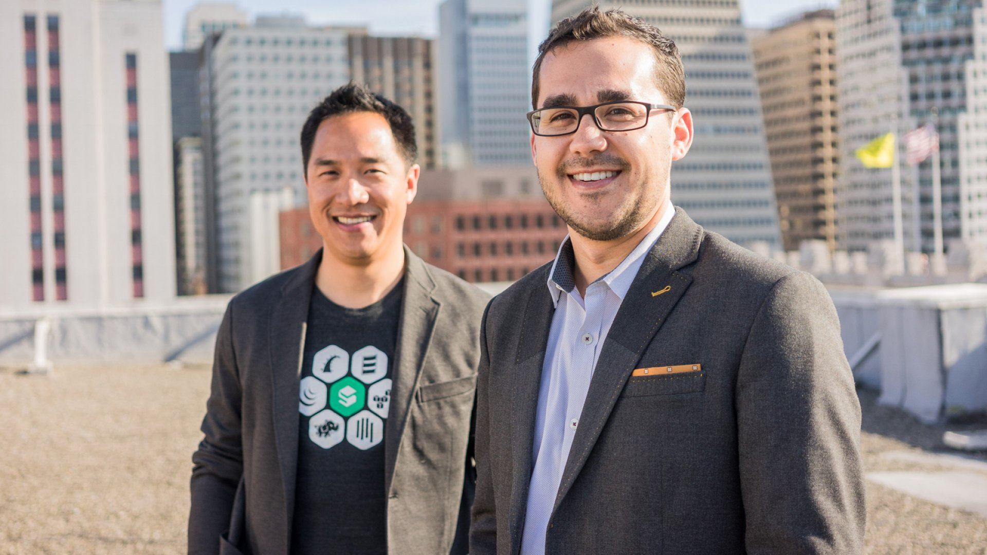 Rob Fan (left) and Dan Greenberg (right) have taken on the monstrous task of monetizing the Internet. With native advertising software, the duo hopes to create an online world in which advertisers and publishers make money without disrupting the user experience. <br> <br>