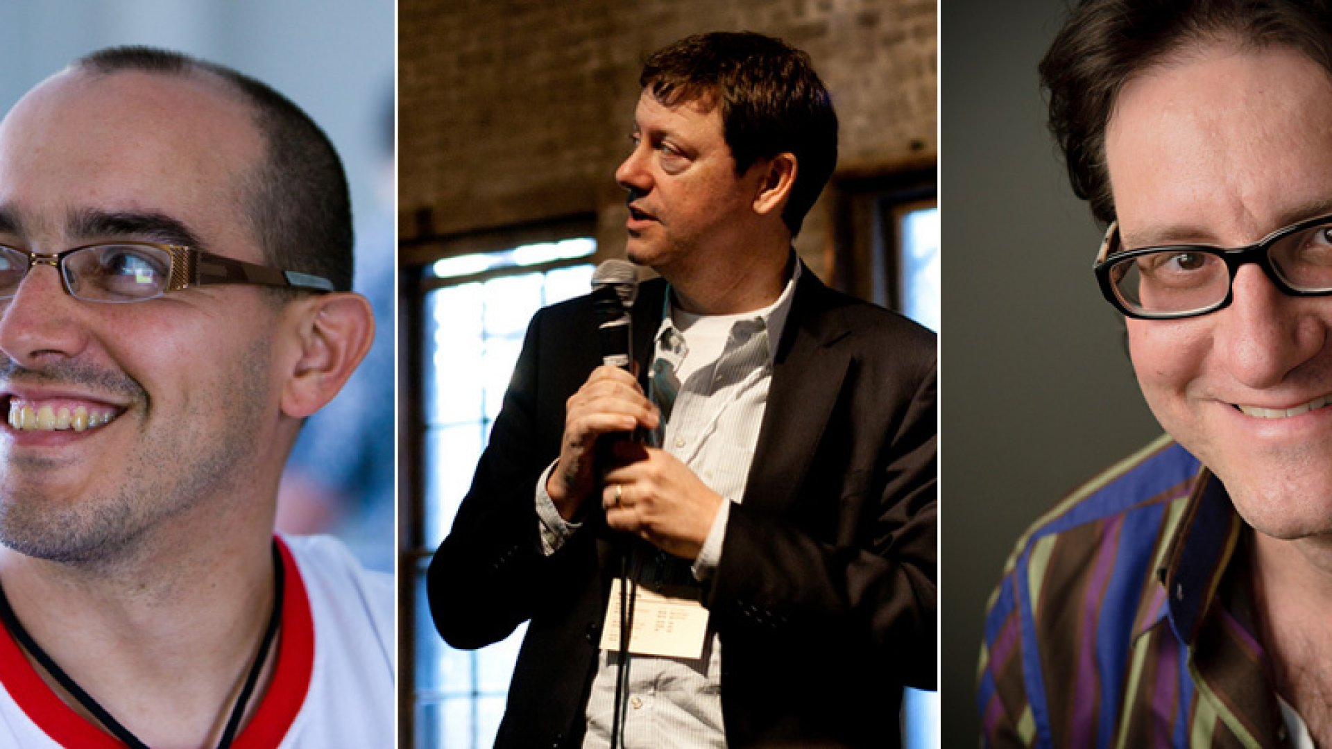 (From left:) Dave McClure, Fred Wilson and Brad Feld are not easy people to meet--much less willing investors. <br> <br>