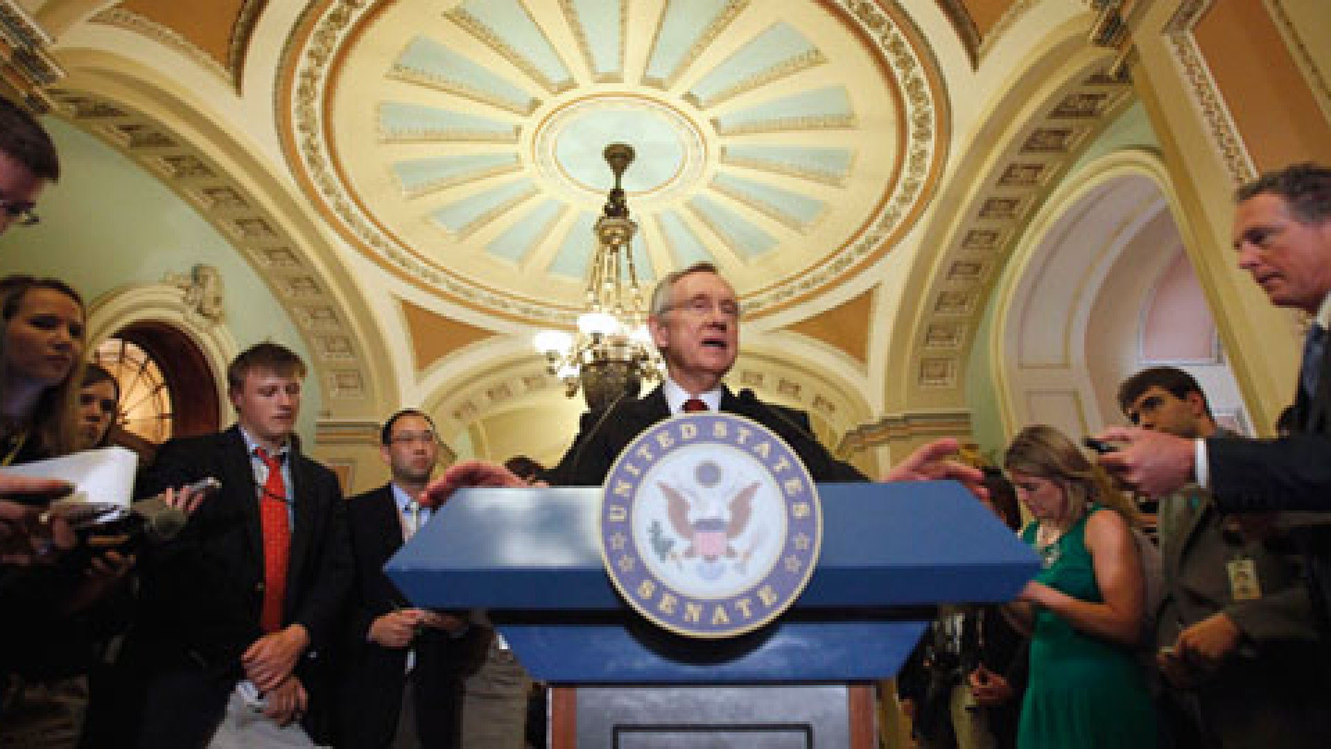 "As Senator Harry Reid said to the Senate Monday: ""People on the right are upset. People on the left are upset. People in the middle are upset."""