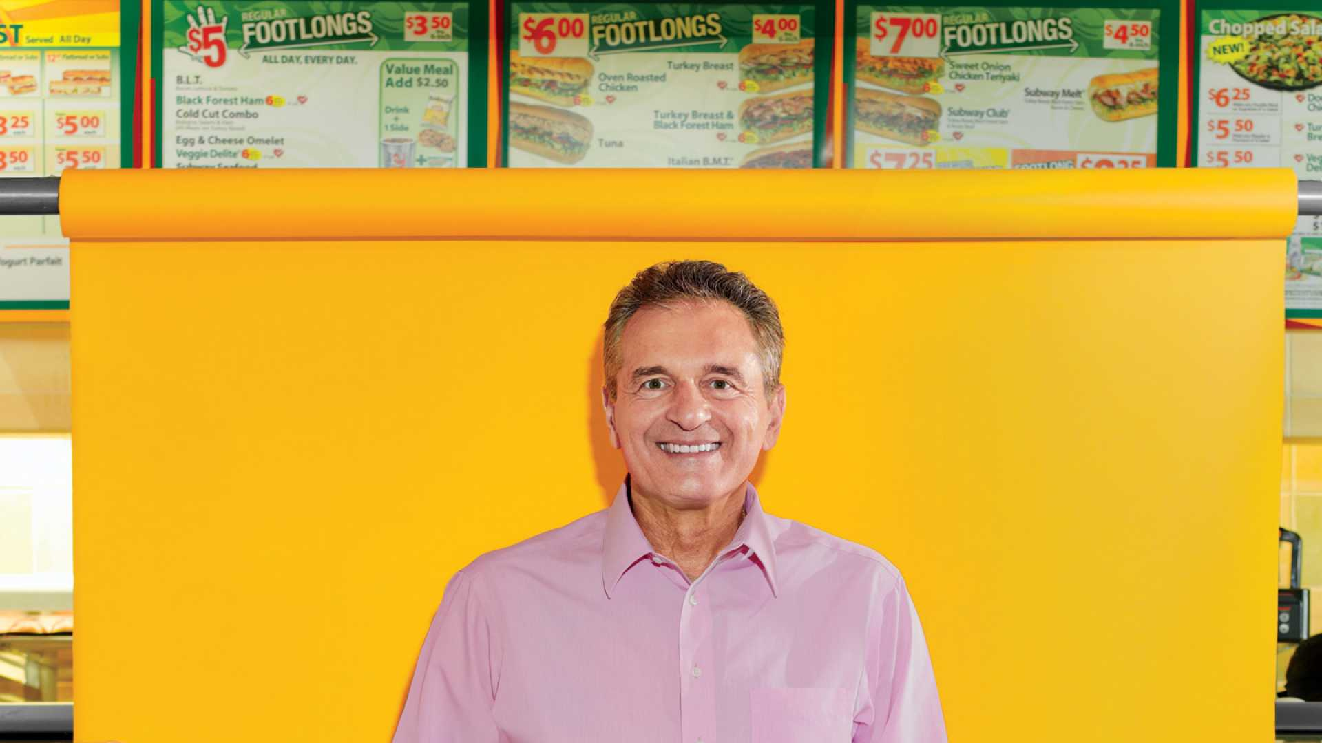 <b>Growth hunger:</b> Fred DeLuca built Subway into the world's biggest restaurant chain.