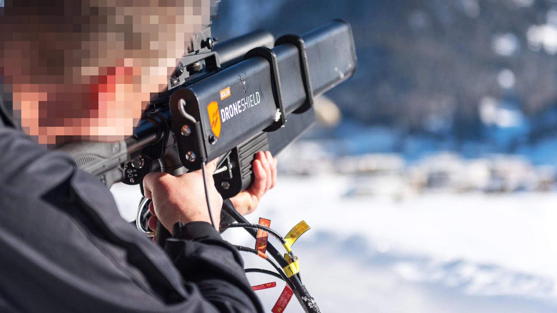 DroneGun deployment at the 2017 World Economic Forum by the Swiss police agency Police cantonal Graubünden.