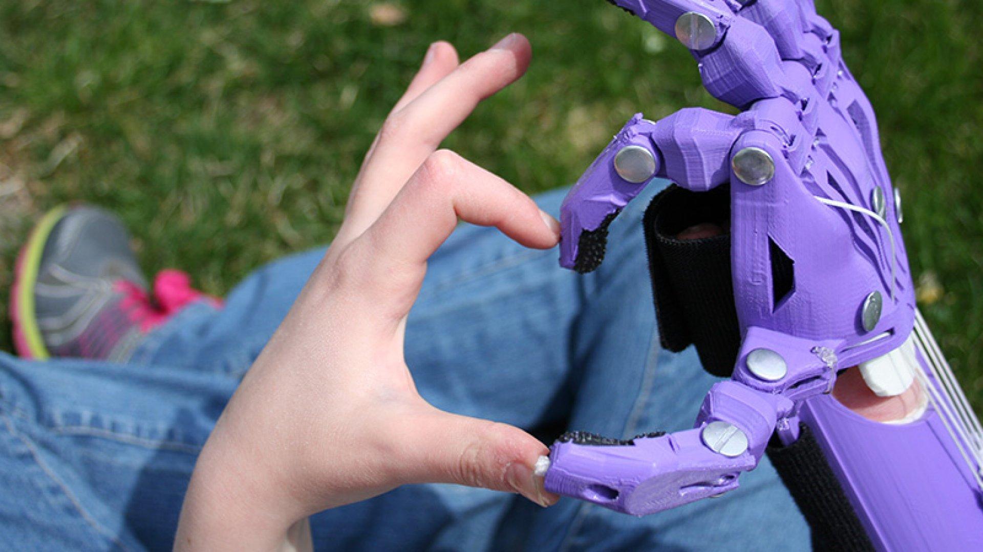 3-D Printing Creates 'Robohand' for Little Girl