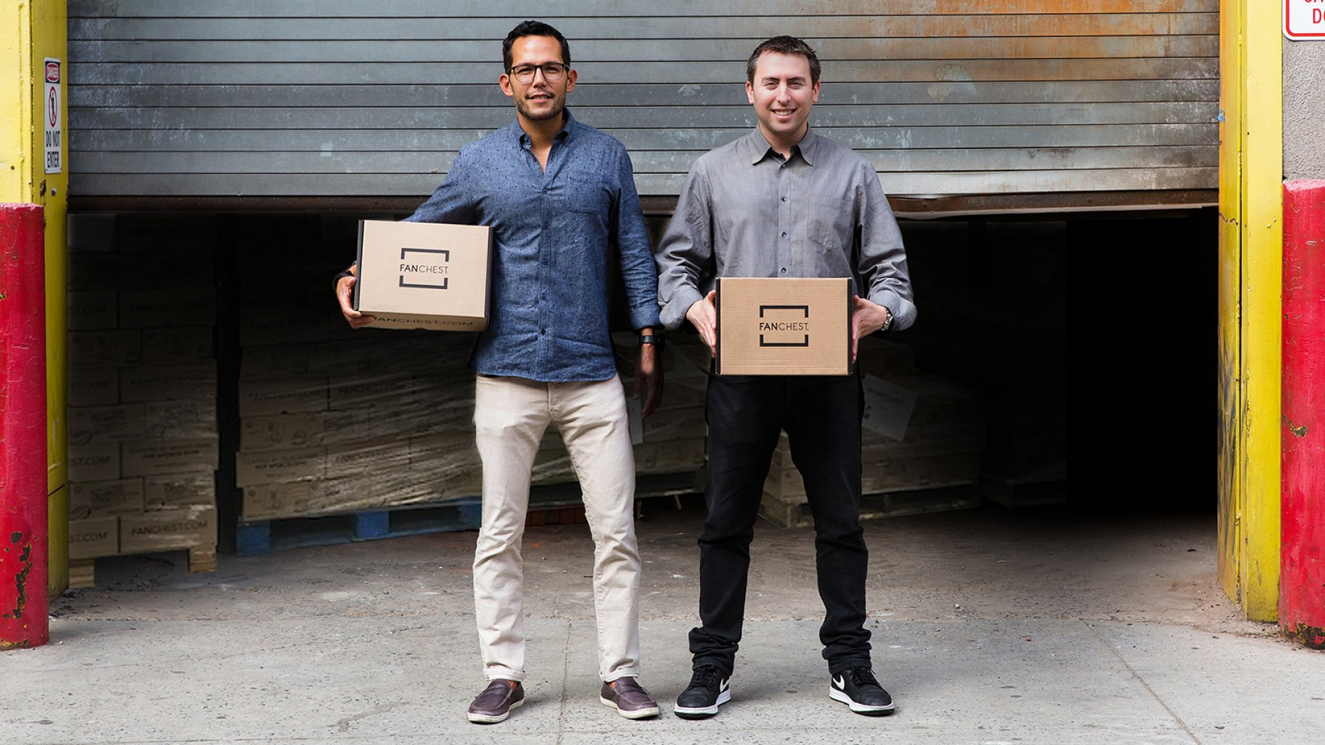 FANCHEST co-founders Jeff Lin (left) and Dan Weinberg.