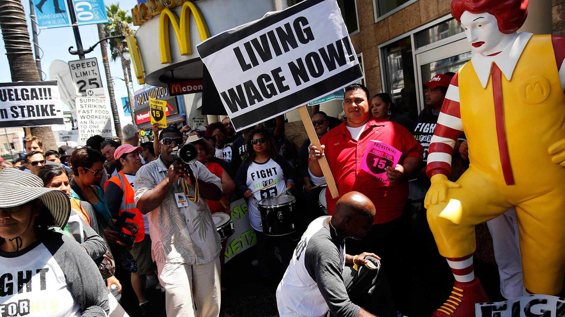 A Strategy for Pacifying Black Friday Wage Protests