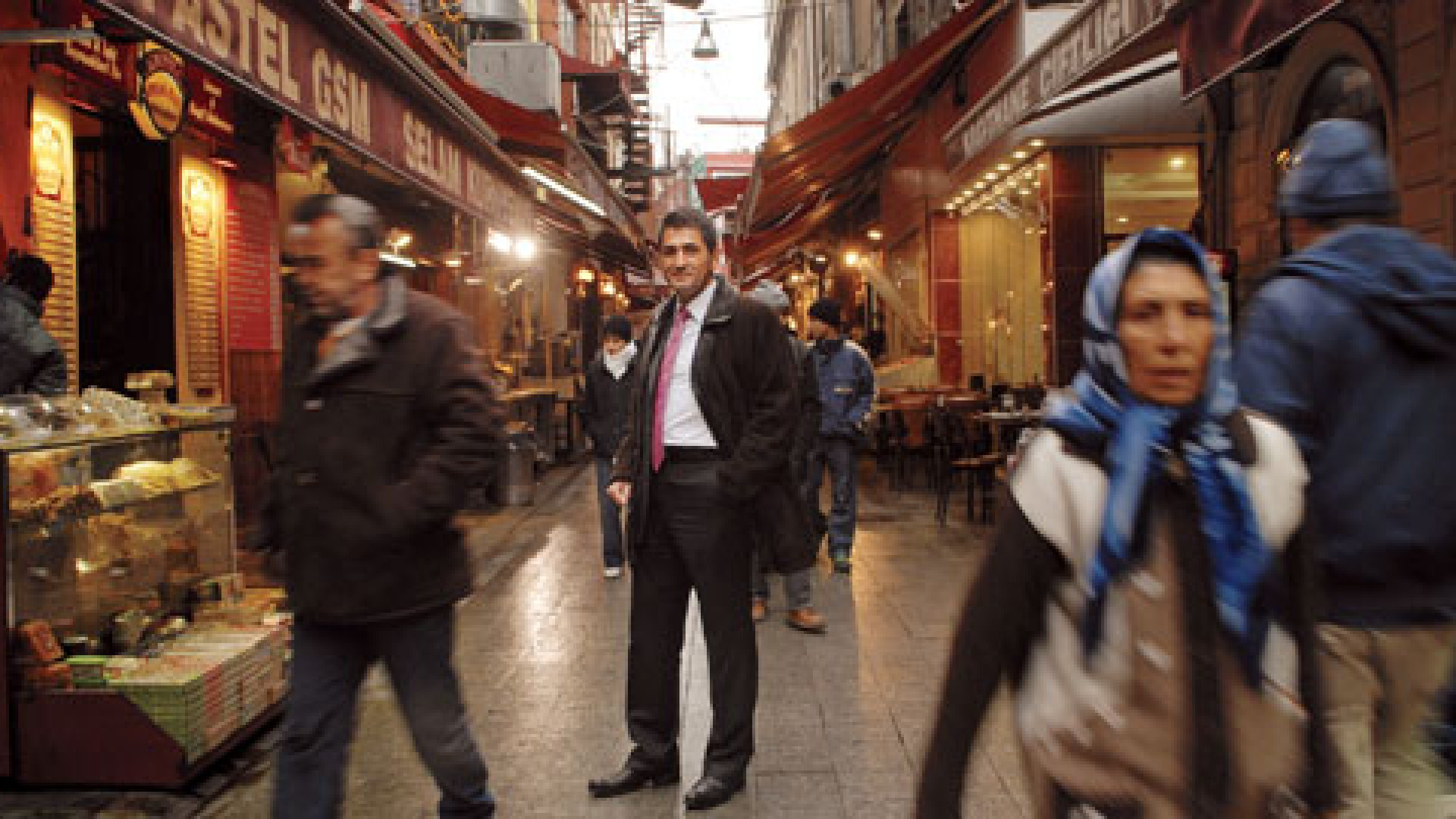 <strong>A Long Way From Palo Alto</strong> Bülent Çelebi in Instanbul's Istiklal Caddesi area. To be a Silicon Valley success, he decided, was to think small.