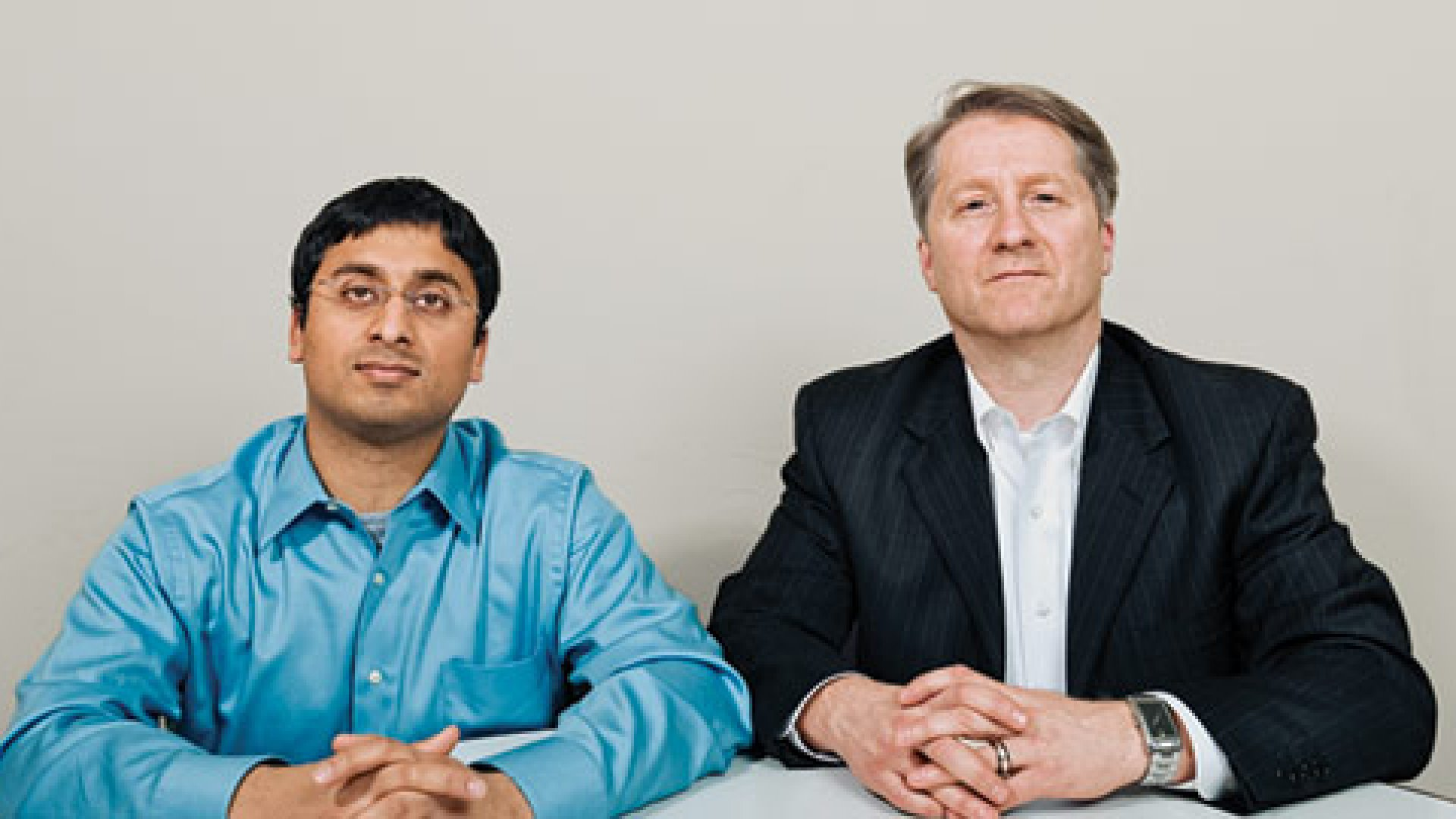 <strong>Change of Plans</strong> Samit Gupta, left, with Michael Camp of Ohio State University.