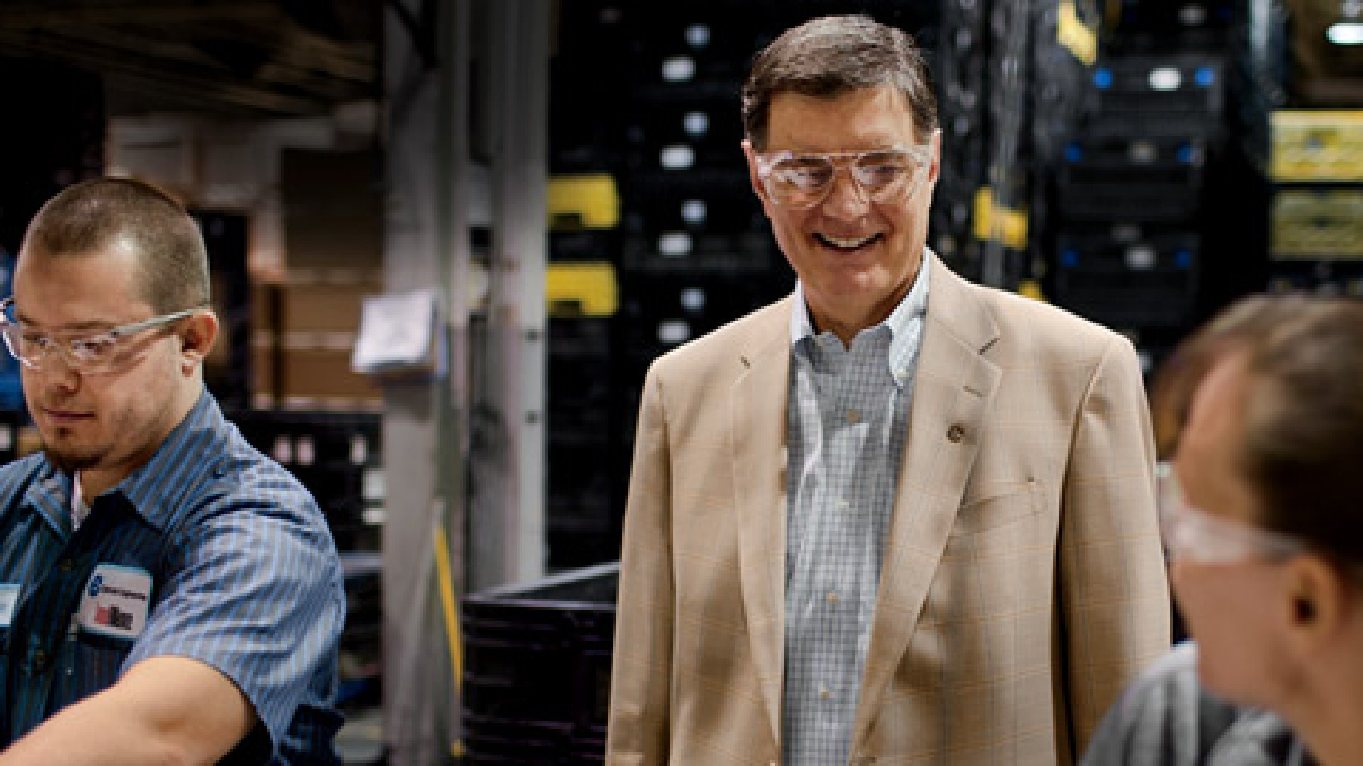 <b>Man on a Mission</b> Fred Keller drops in on the first shift in his automobile-parts plant. His $250 million company has been balancing mission and money for nearly four decades.