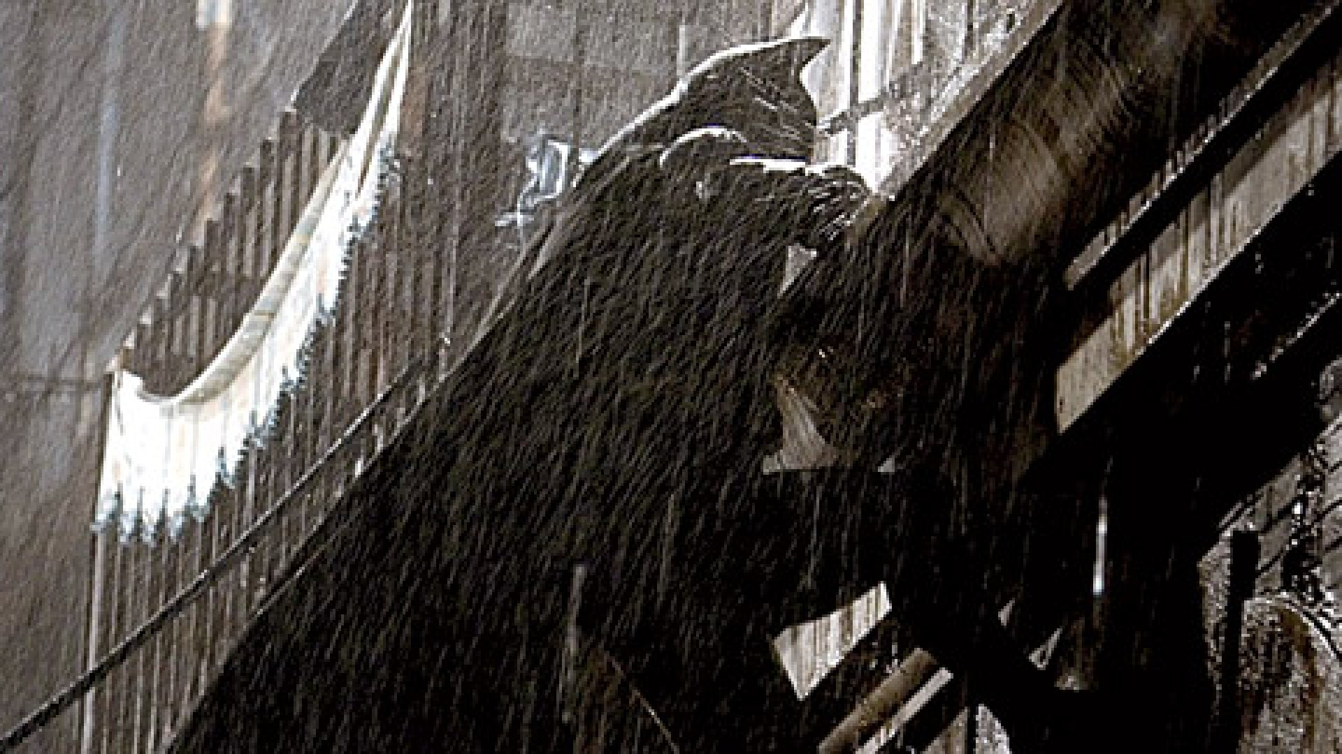 Batman used a grapple gun to scale buildings.