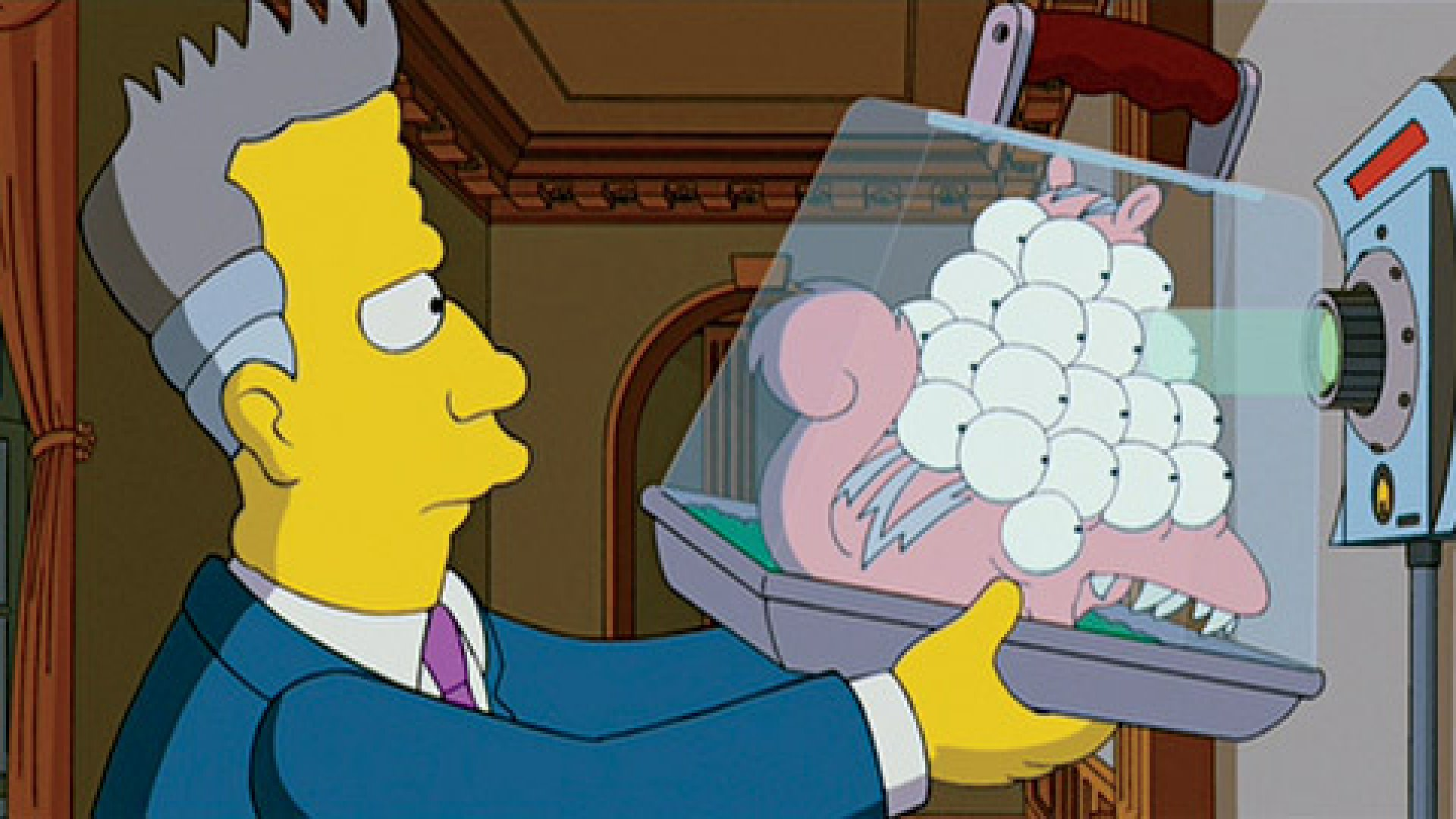 The iris recognition device in <em>The Simpsons Movie</em>