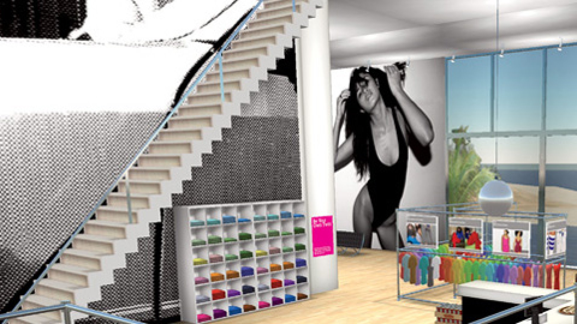 <STRONG> THE TENANT</STRONG>The American Apparel store in Second Life.