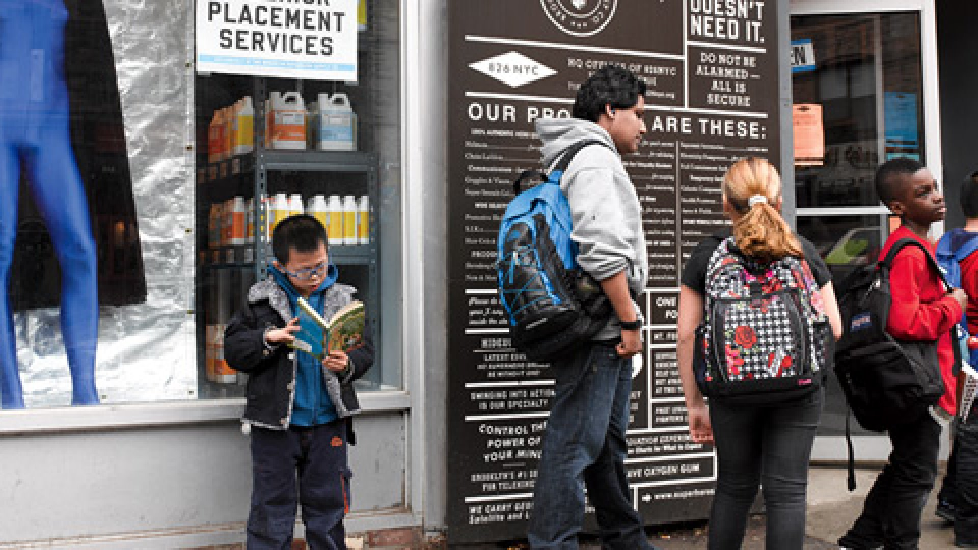 <b>Check Your Cape at the Door</b> Neighborhood kids file into Brooklyn Superhero Supply.