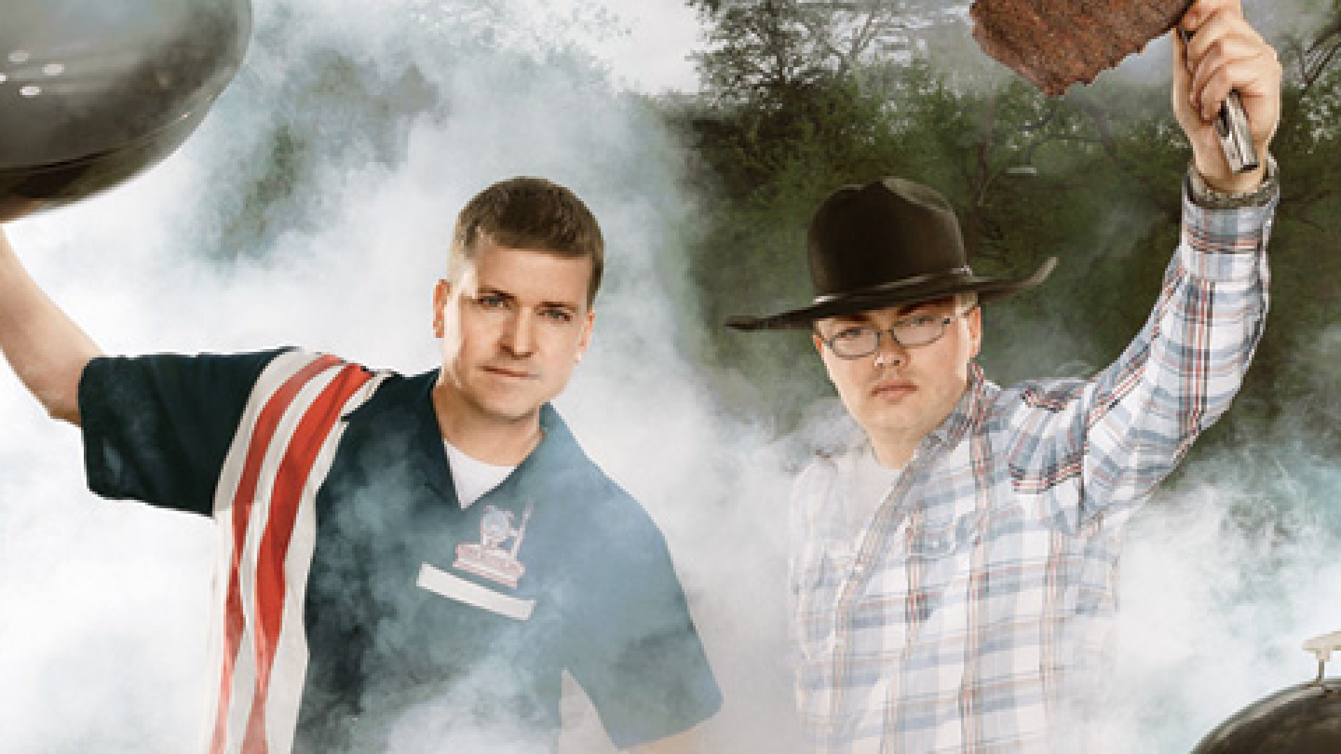 <b>REALITY BITES: </b>Brett Thompson (left) and Heath Hall were barbecue hobbyist-until an appearance on ABC's <em>Shark Tank.</em>