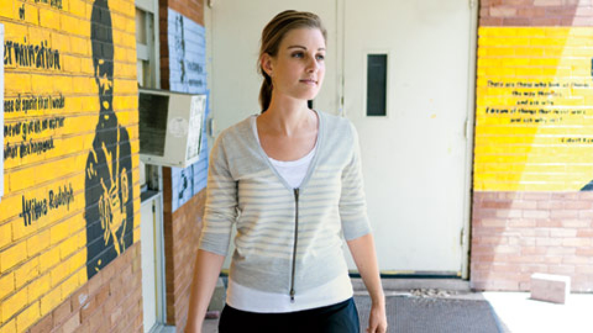 <b>Best in Class</b>Jennifer Schnidman Medbery, making rounds at Kipp Believe College Prep