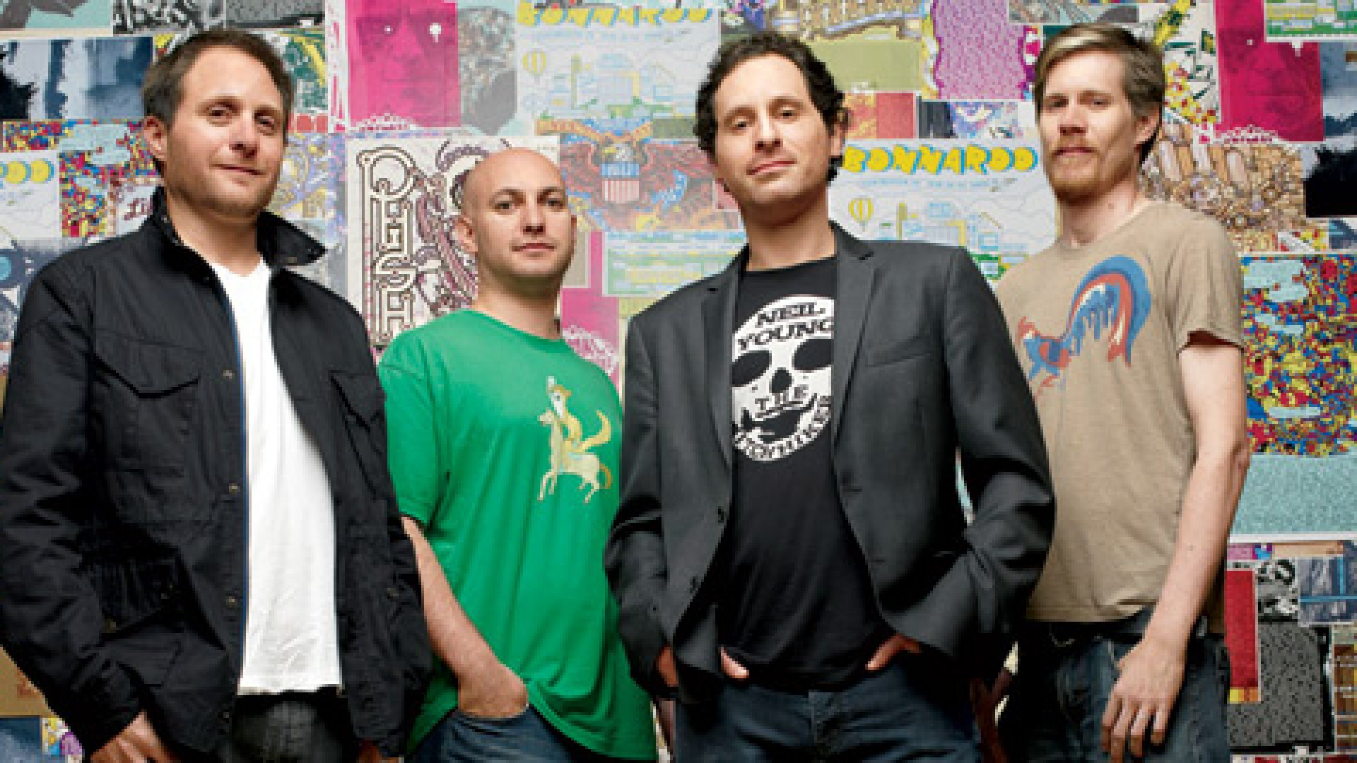 <b>Still Rocking Out </b> Superfly Presents's co-founders: from left, Rick Farman, Richard Goodstone, Jonathan Mayers, and Kerry Black