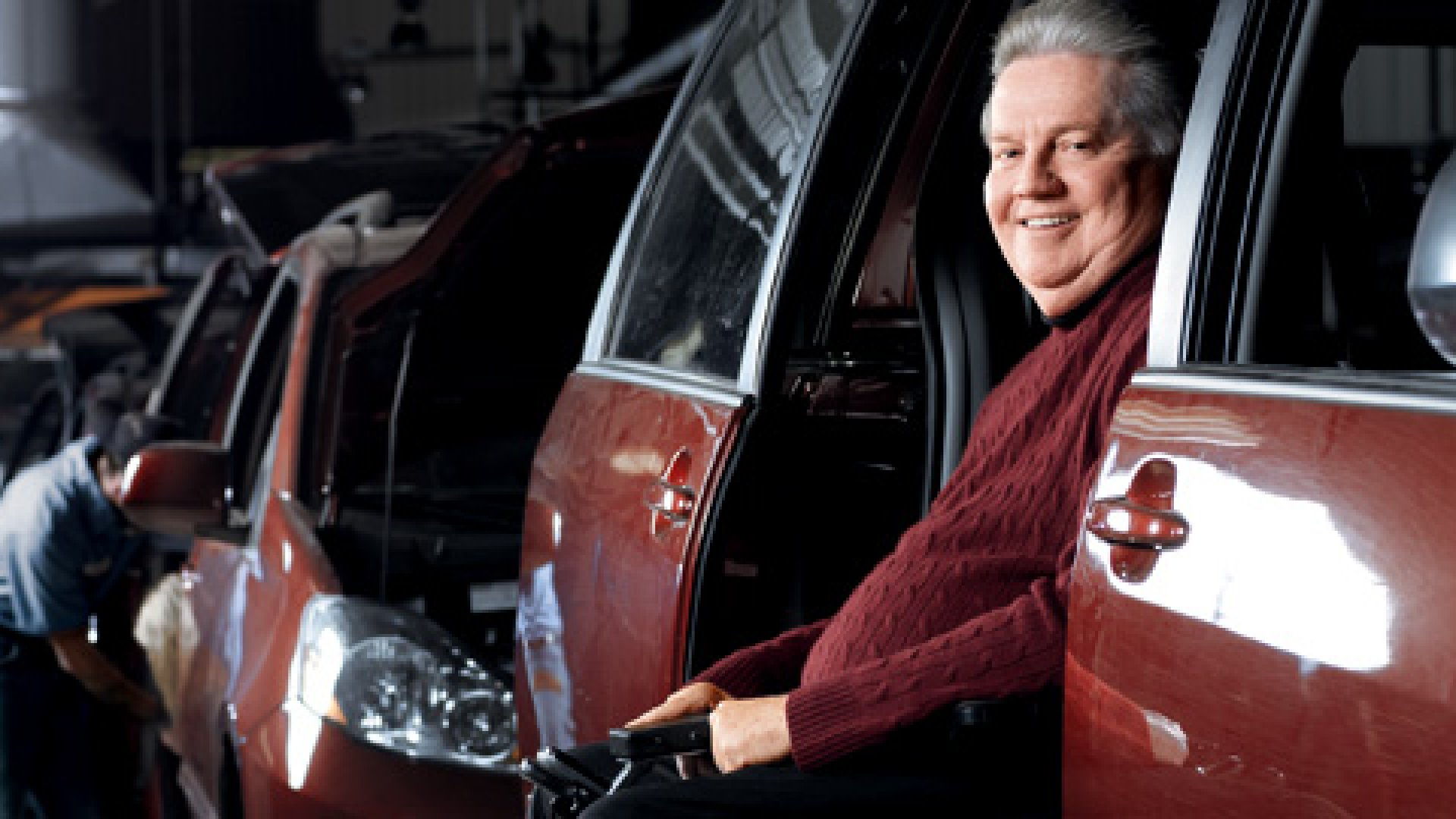 <strong>MOBILITY MAN</strong> In the early years of his business, Ralph Braun drove 50,000 miles a year in one of his lift-equipped vans.