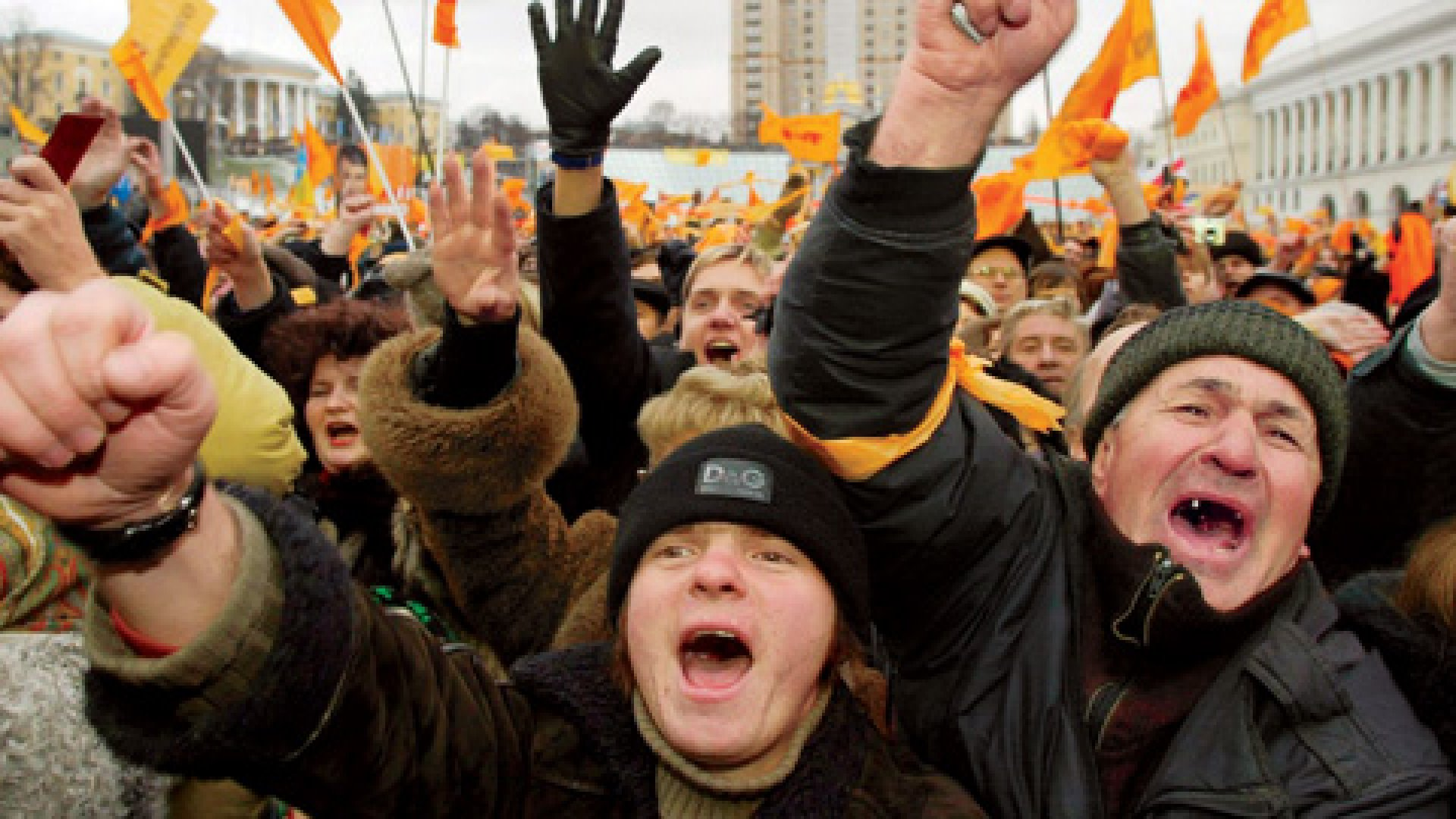 <strong>UKRAINE, 2004</strong> The Orange Revolution brought the country to a standstill. Not at all business as usual.