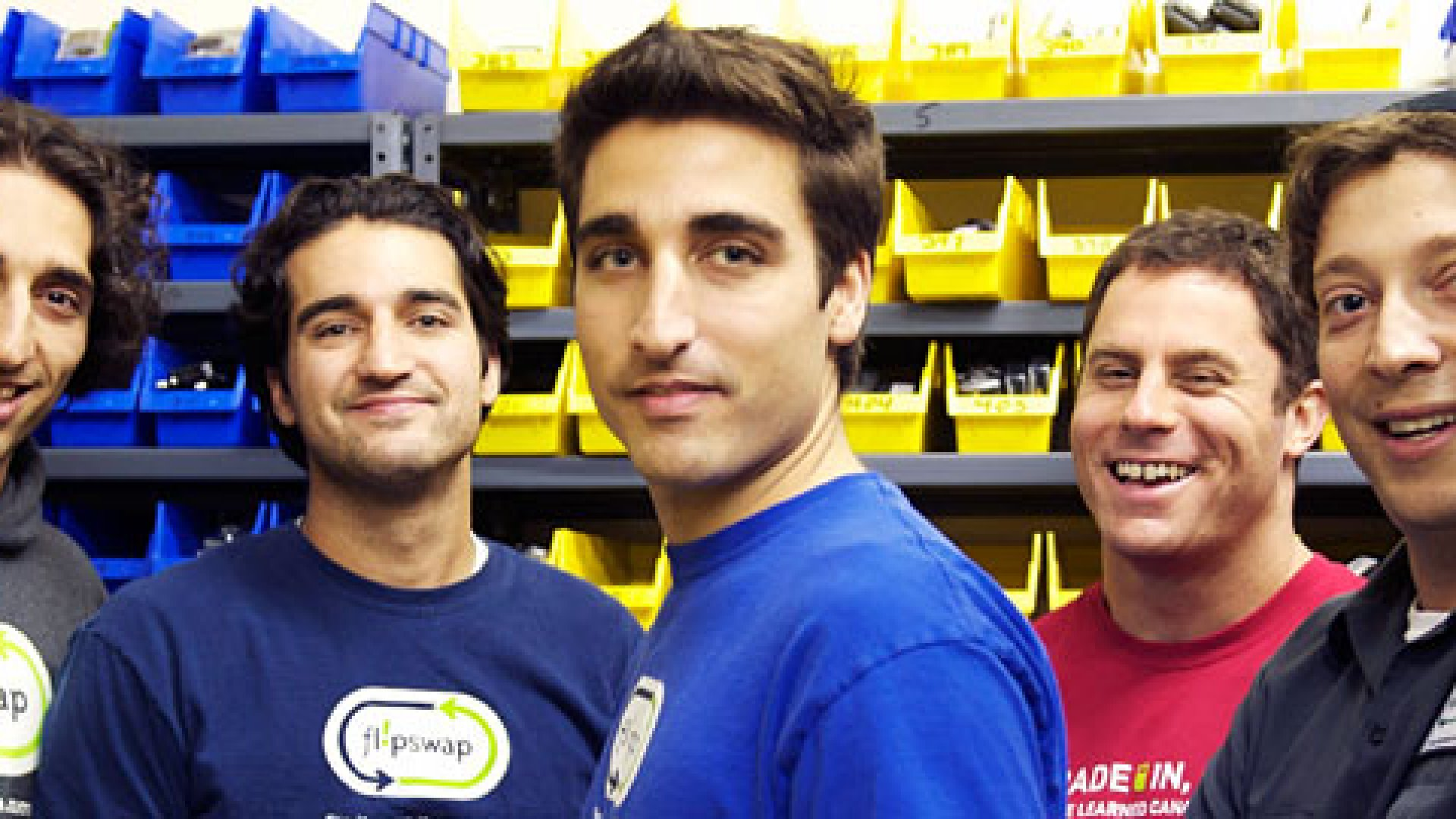 <b>FLIPSWAP FOUNDERS</b> Sohrob Farudi, Cyrus Farudi, Rahmeen Farudi, Andrew Berman and Edo Cohen (from left to right) collect used cell phones and resell them.