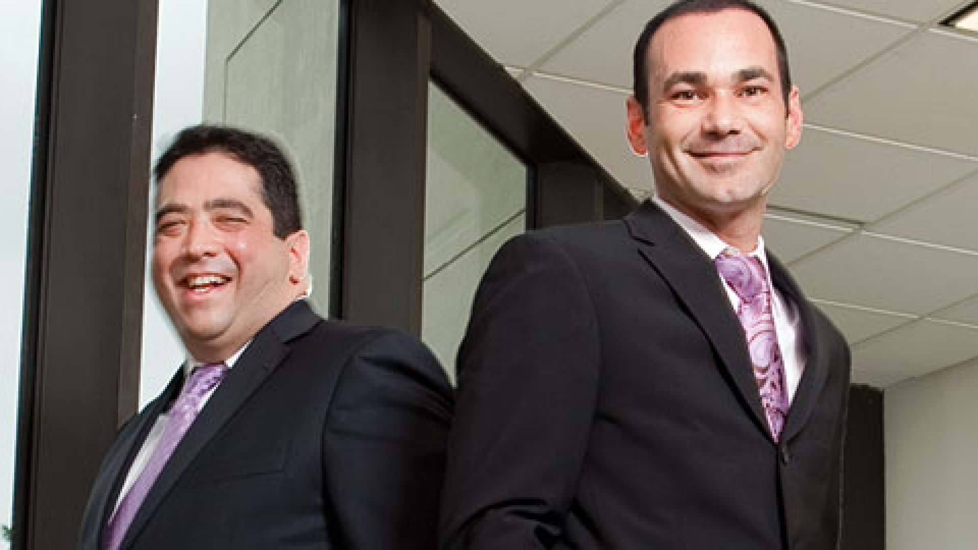 <strong>AND STAY OUT:</strong> When the big insurers left Florida, Alexander Anthony (left) and Albert Fernandez stepped into the breach.