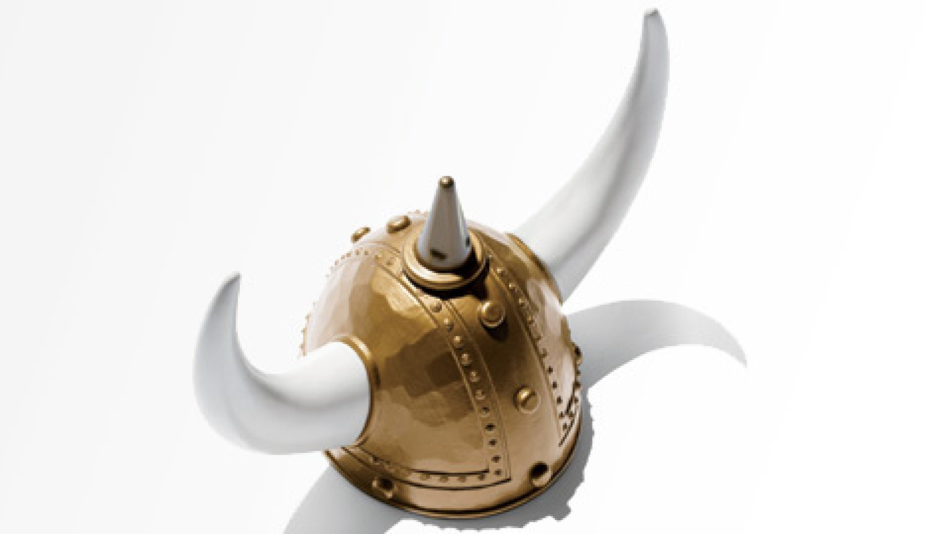 <b>Artifact: Menlo Innovations's Viking helmet</b> At Menlo, a software company, everyone works in pairs, and when a pair reports on its work in morning meetings, each partner holds a horn of this helmet. The helmet, then, is what management expert Edgar Schein calls an artifact—a visible manifestation of a company's culture, an object the work force recognizes as an expression of what it believes about itself.