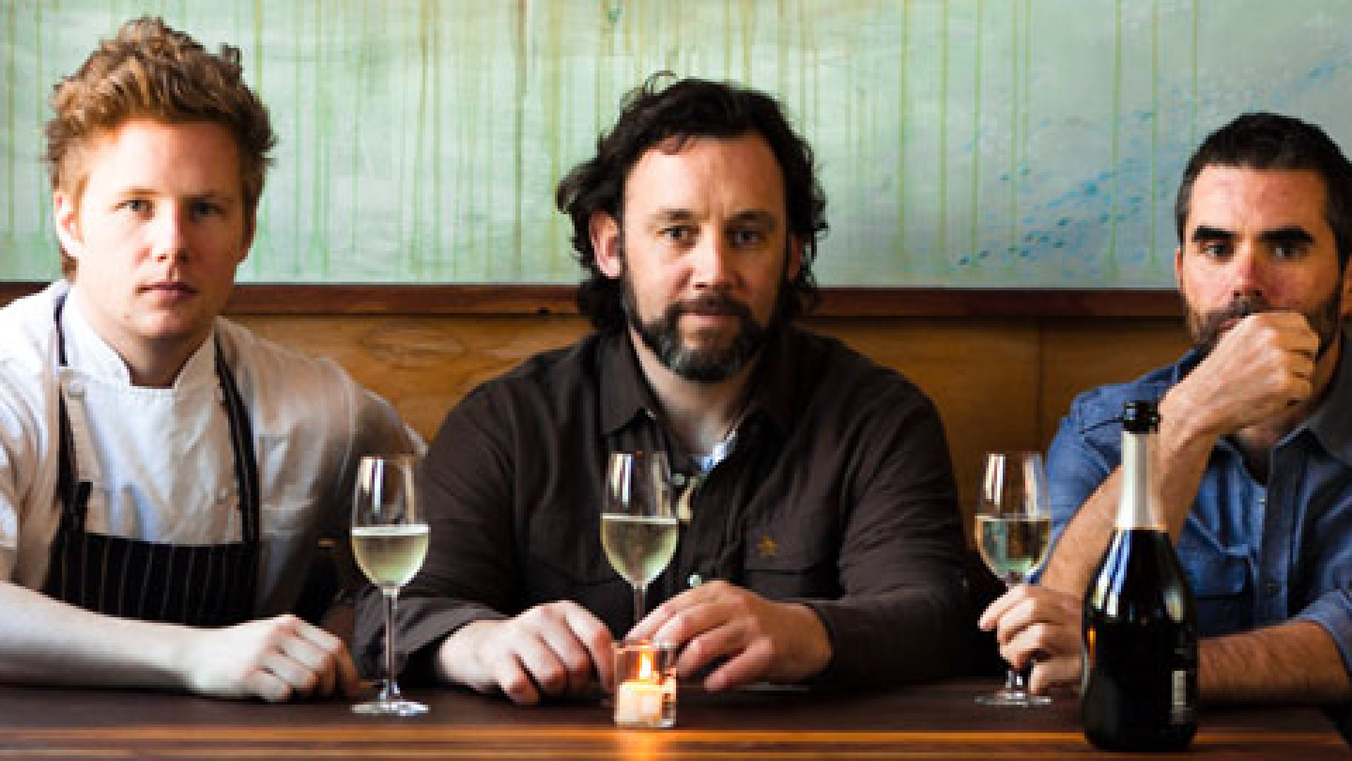 Founders Thomas McNaughton, David White, and David Steele (from left) started restaurant flour + water in May 2009.
