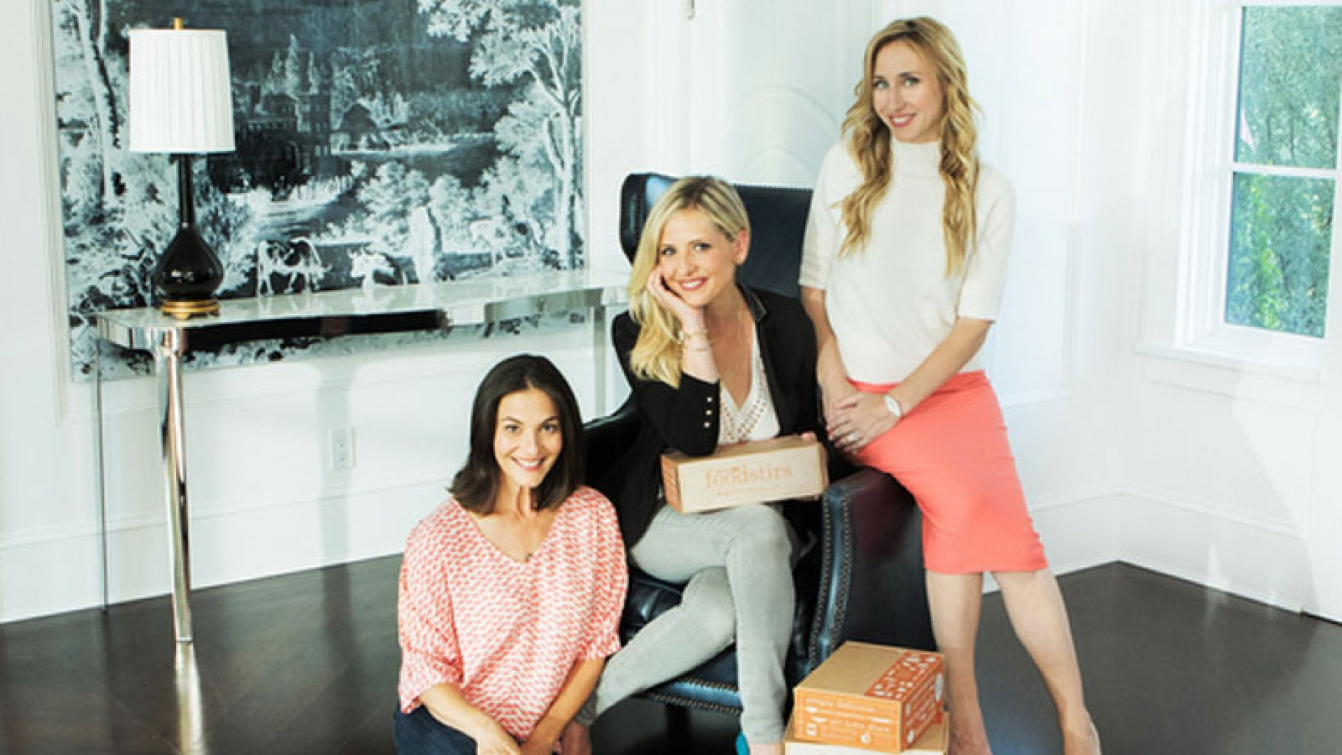 Gia Russo, Sarah Michelle Gellar, and Galit Laibow of Santa-Monica-based baking kit company Foodstirs.