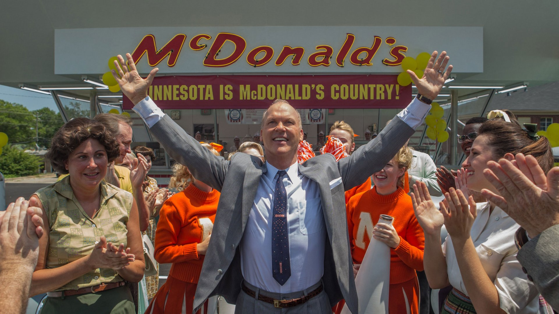 Michael Keaton in his role as Ray Kroc in the new movie <i>The Founder</i>.