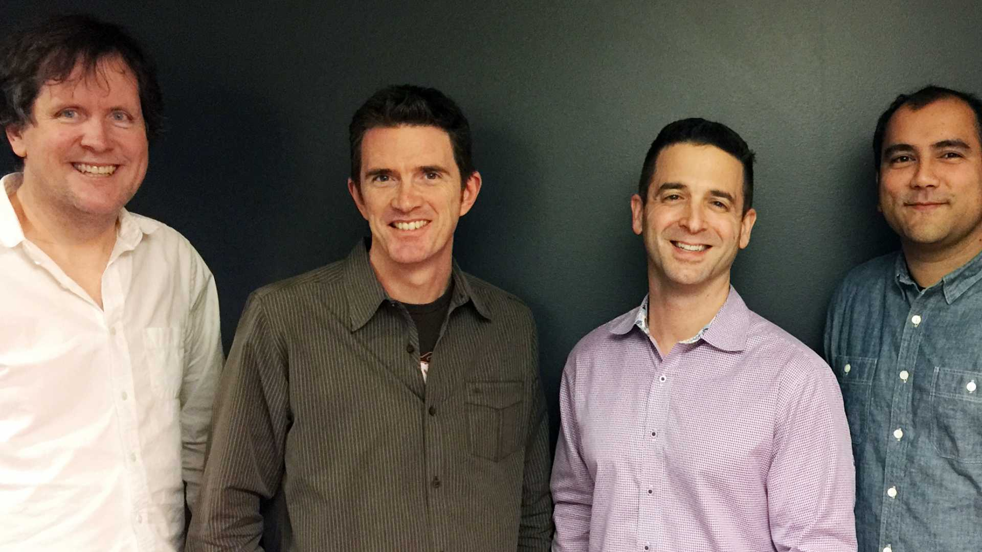 MightyAI co-founders (L-R) Patrick O'Donnell, Matt Shobe, Matt Bencke and Daryn Nakhuda.