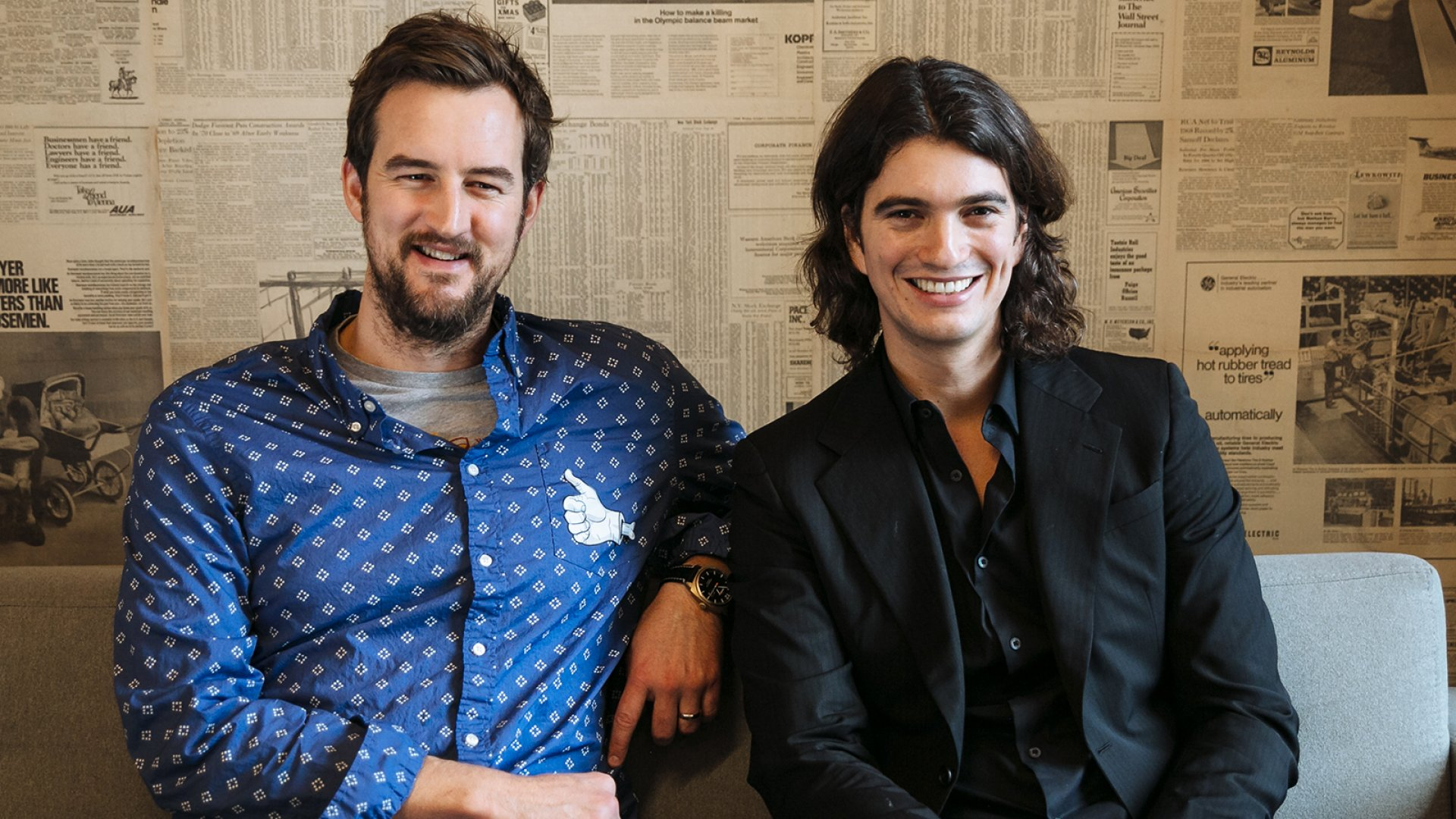 WeWork co-founders Miguel McKelvey (left) and Adam Neumann have worked together since 2008.
