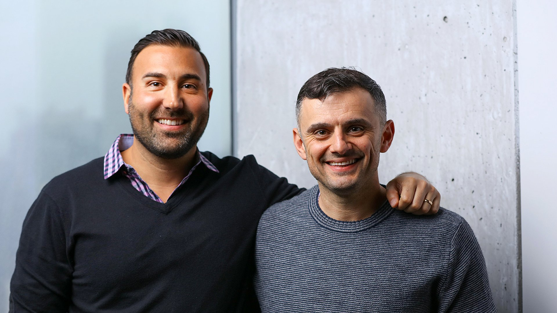 From left: Ryan Harwood, CEO of The Gallery and PureWow, and Gary Vaynerchuk, CEO of VaynerX and VaynerMedia