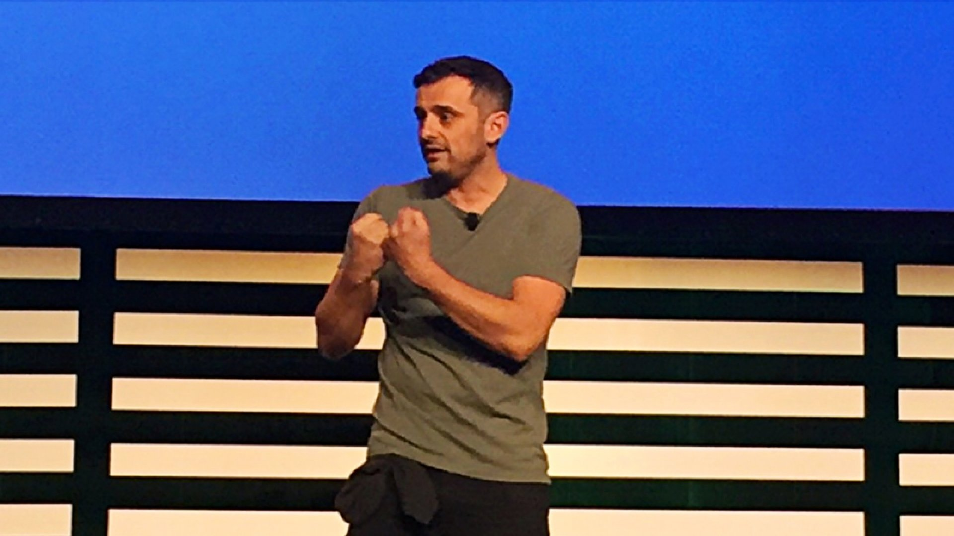 Gary Vaynerchuk captivating the audience.