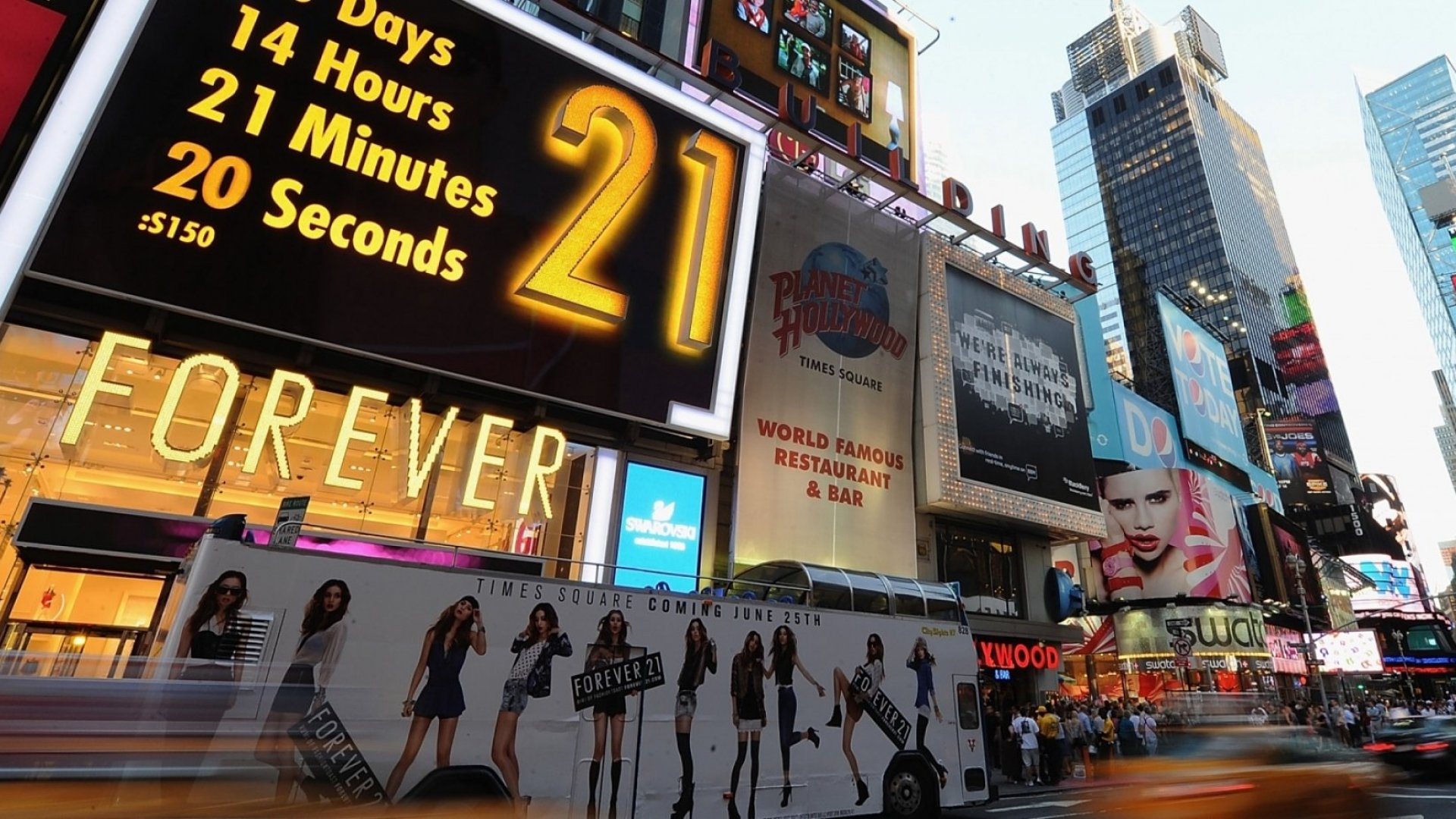 Right before the opening of the flagship Forever 21 Times Square store in New York City