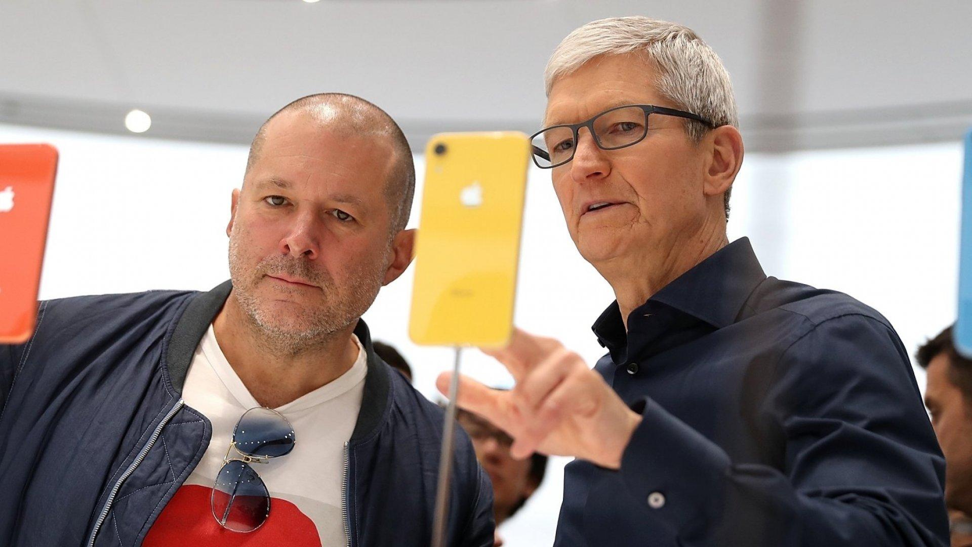 Jony Ive with Apple CEO Tim Cook.