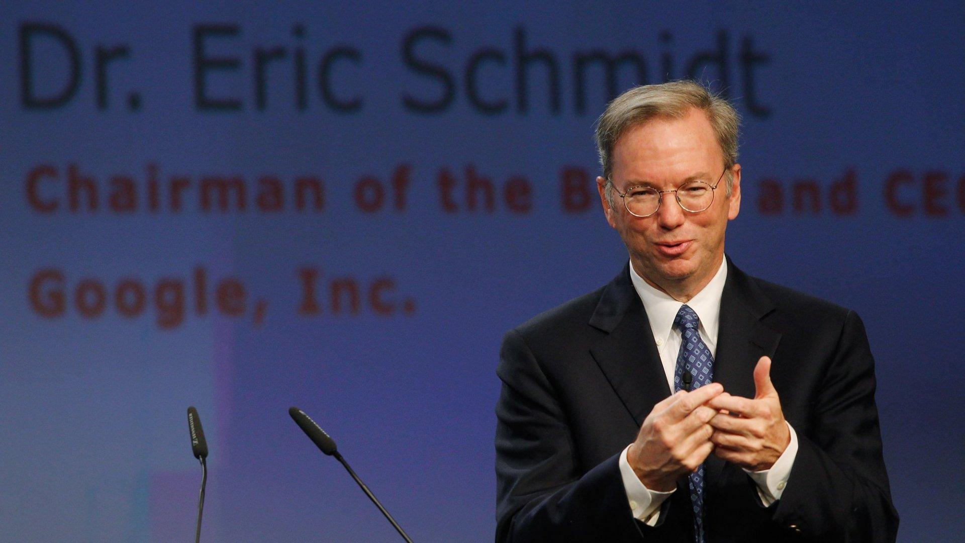 Google's Erik Schmidt Shares The Secret to a Successful Career with a Short Piece of Advice