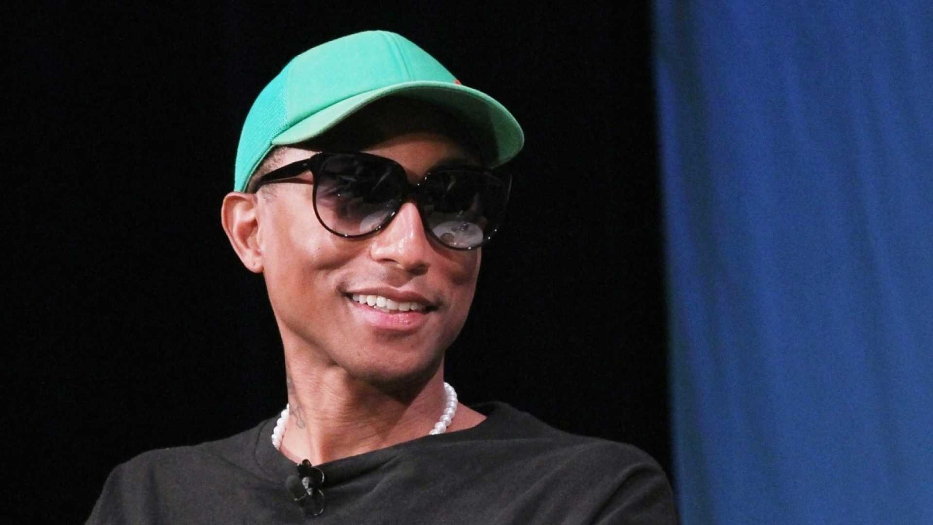 Pharrell Williams at the Fast Company Innovation Festival on October 24, 2018.