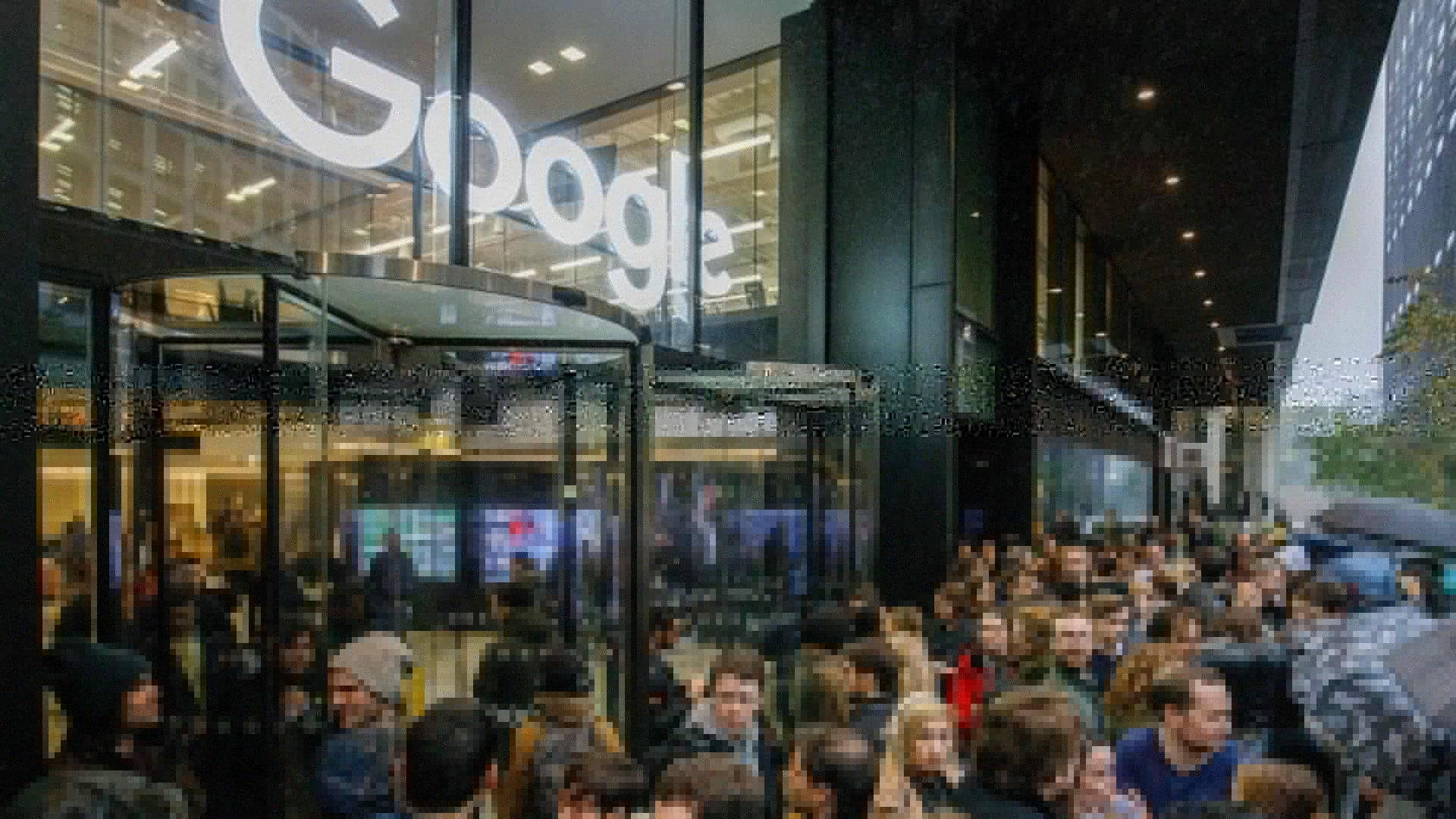 Employee walkout at a Google UK office November 1.