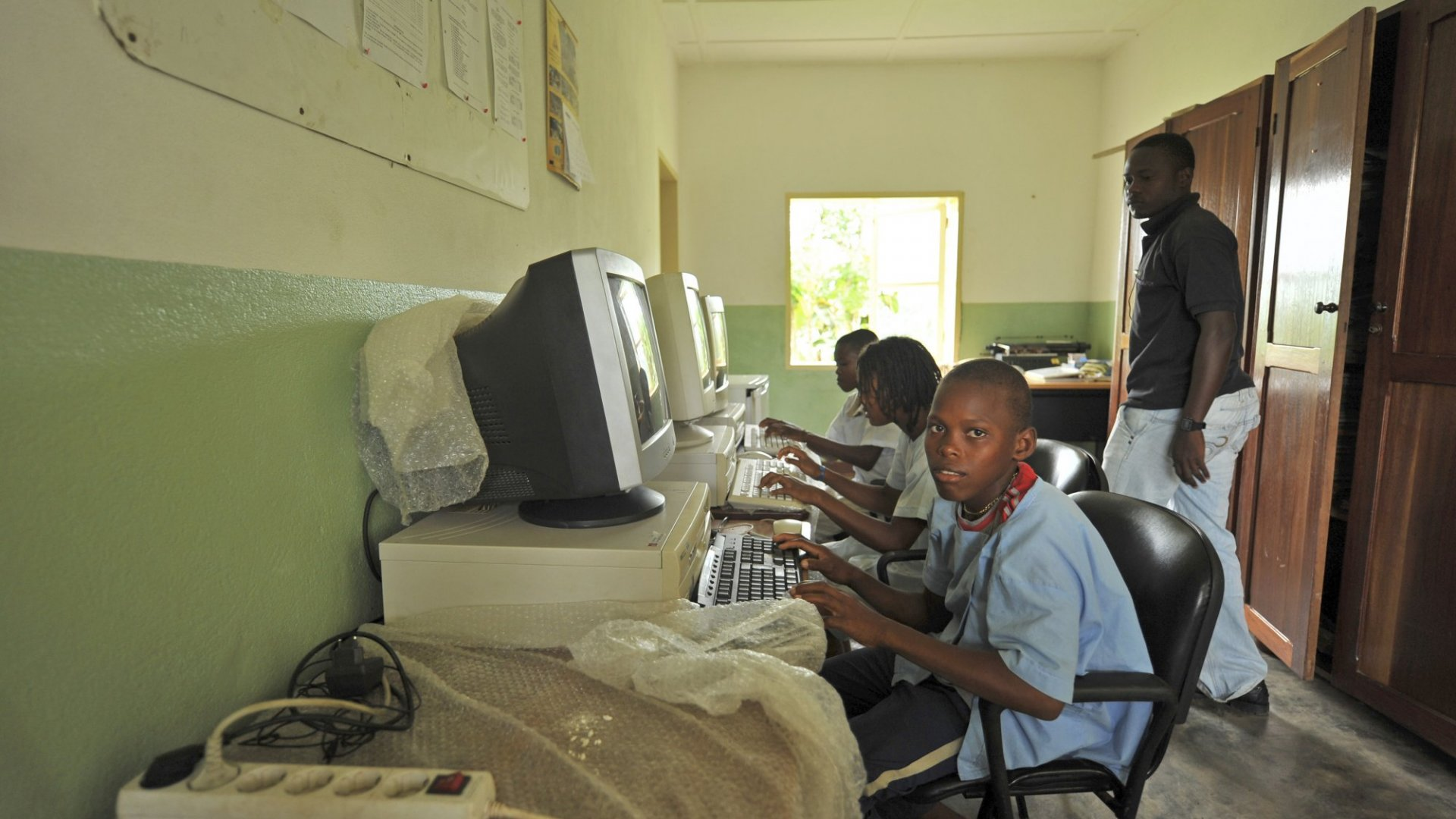 "Children in third world countries could get better access to computers with the help of tools like the ""Superbook."""