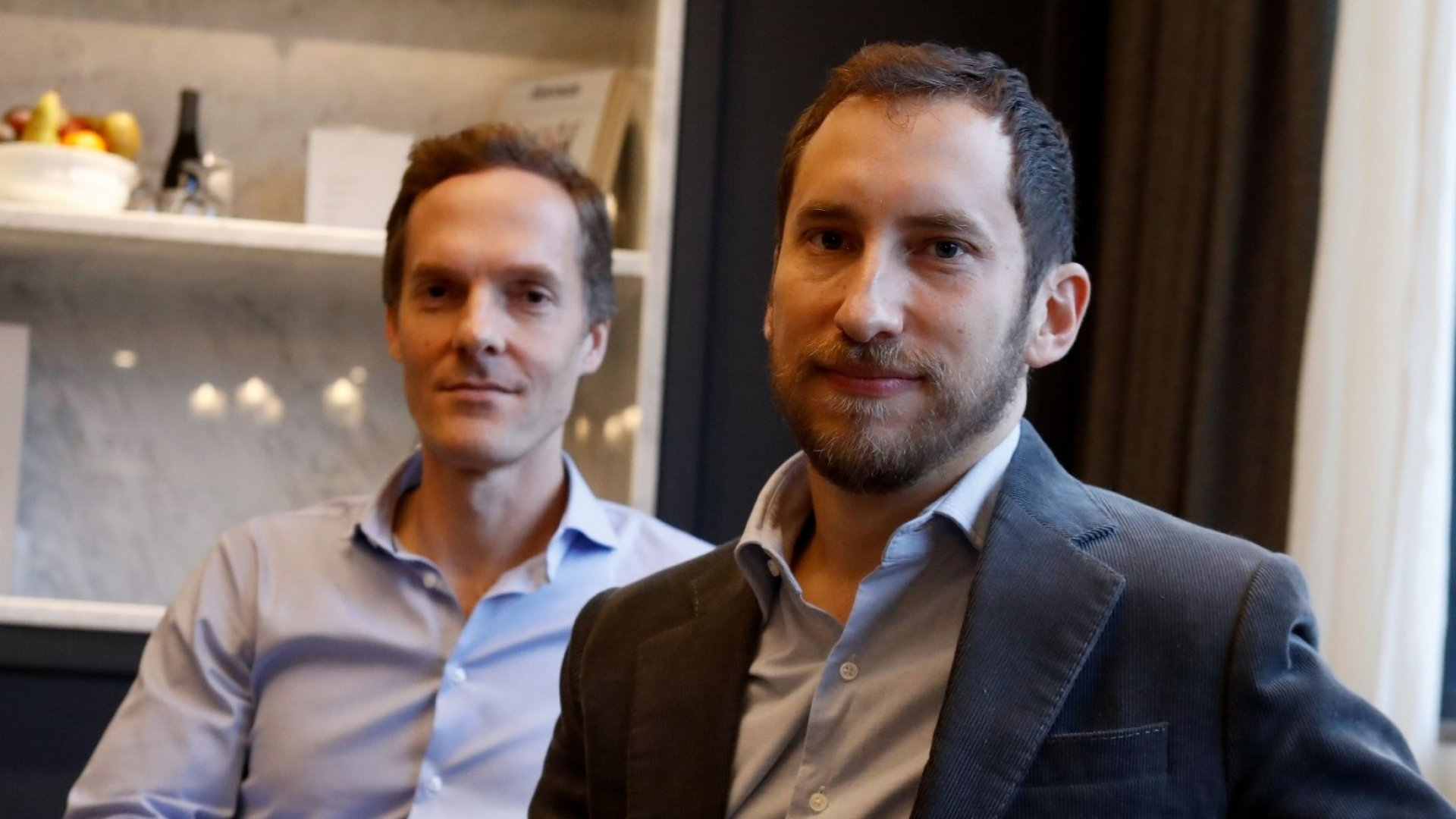 Adam Bowen (L) and James Monsees, Juul's co-founders. Photo by Francois Guillot, AFP