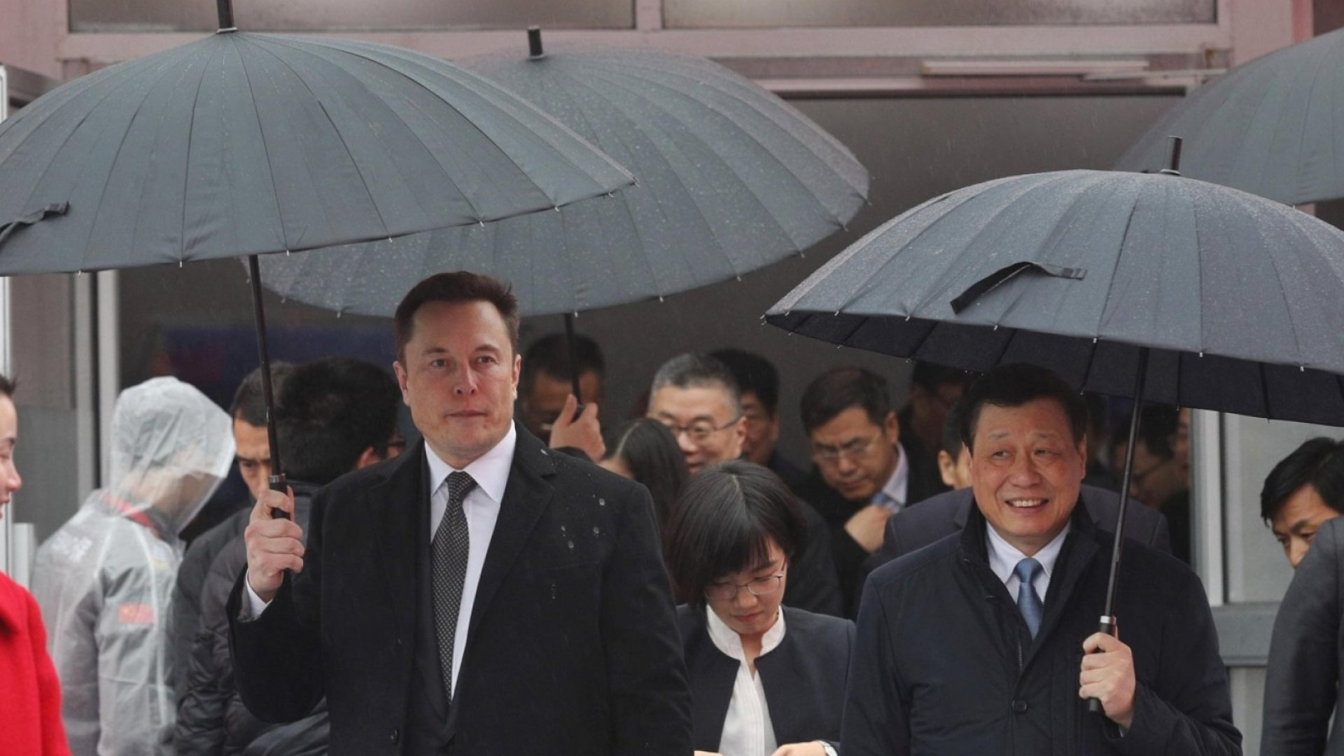 Elon Musk at the Tesla Shanghai Gigafactory.