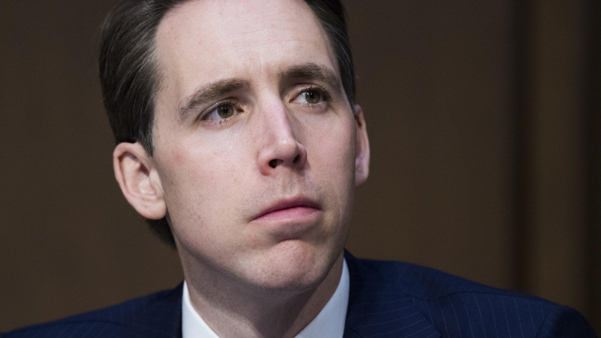 Senator Josh Hawley (R-Mo.).