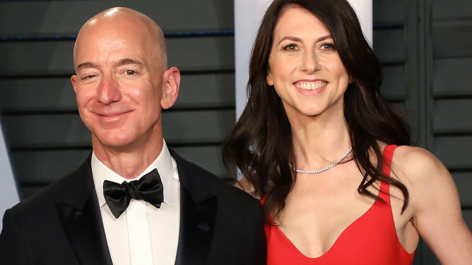 MacKenzie and Jeff Bezos.