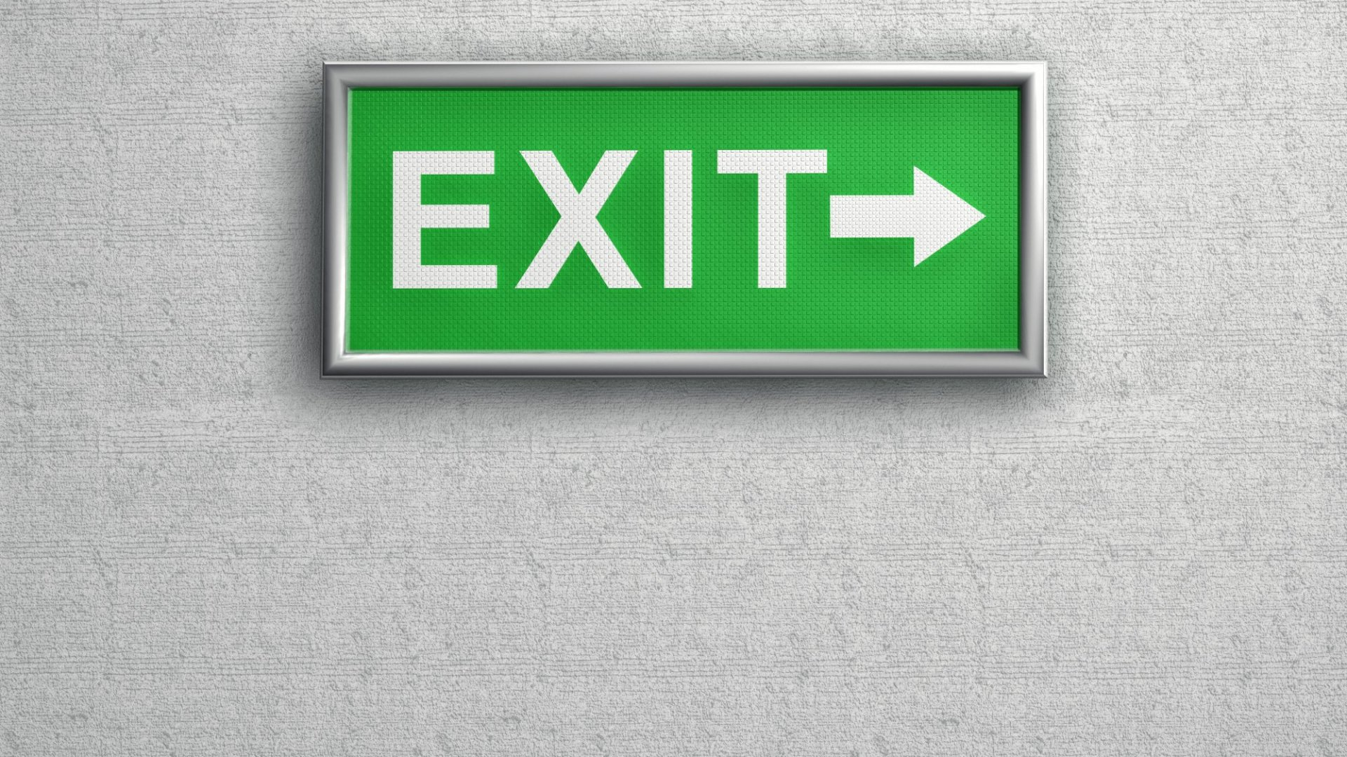 This Is What Happens When Investors Start Looking for the Exits
